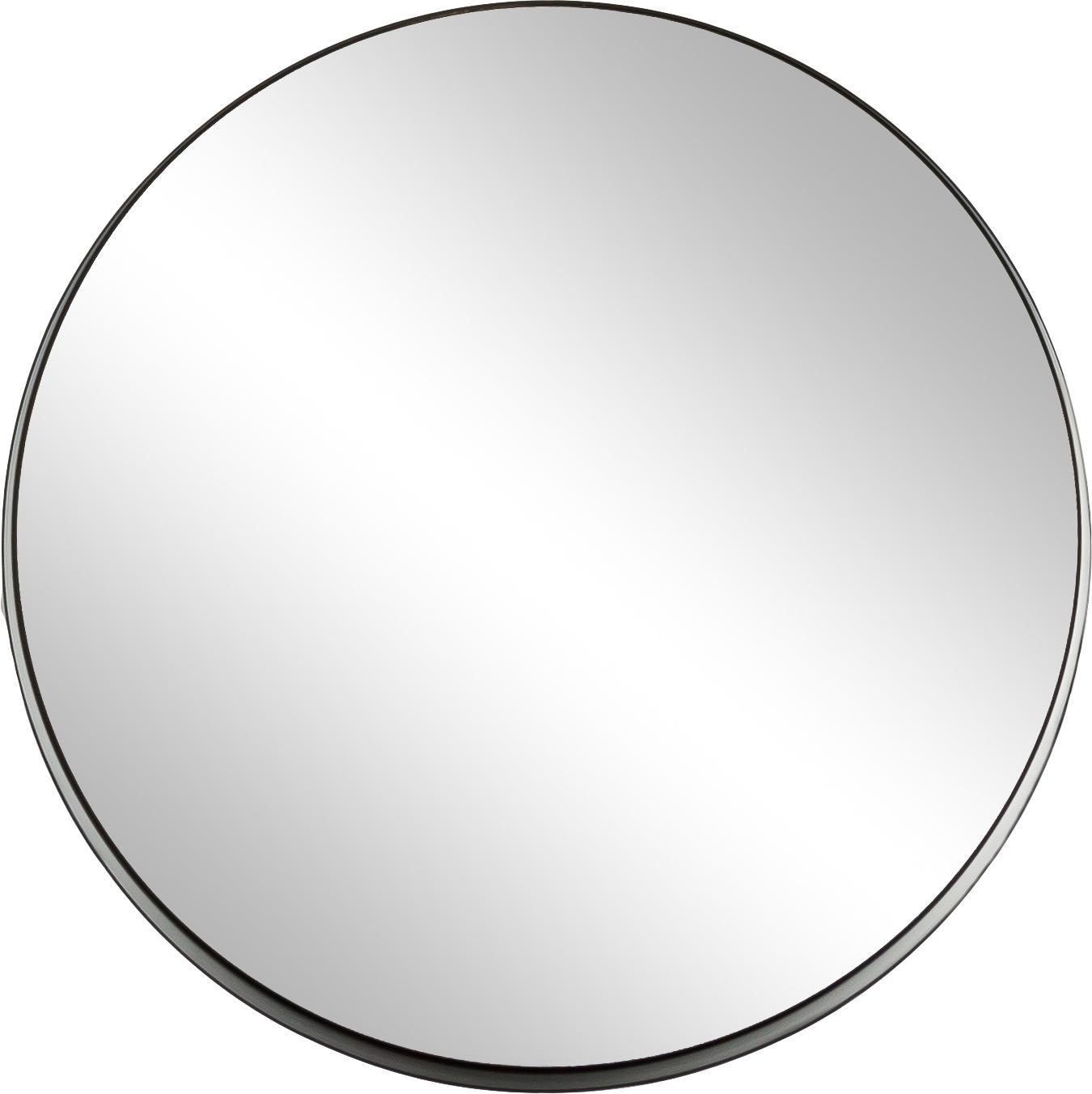 Wandspiegel Metal mit schwarzem Rahmen, Rahmen: Metall, lackiert mit gewo, Rahmen: Schwarz<br>Spiegelglas, Ø 43 cm