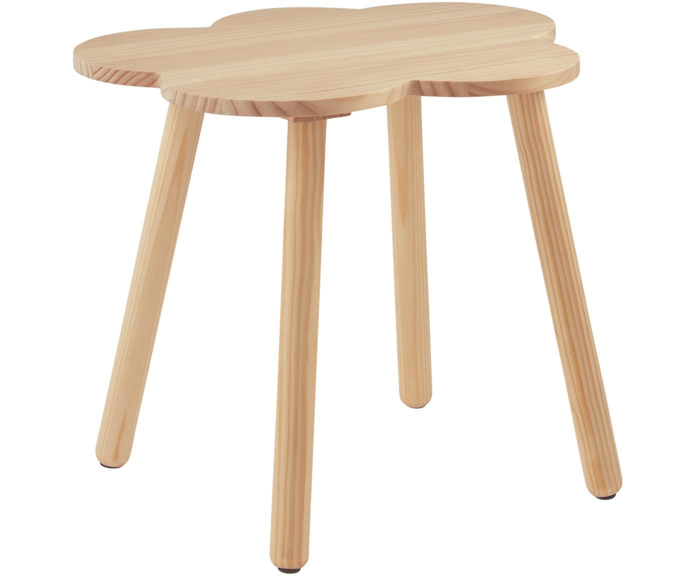 Stolik dla dzieci Cloud, Drewno sosnowe, Brązowy, Ø 48 x W 42 cm