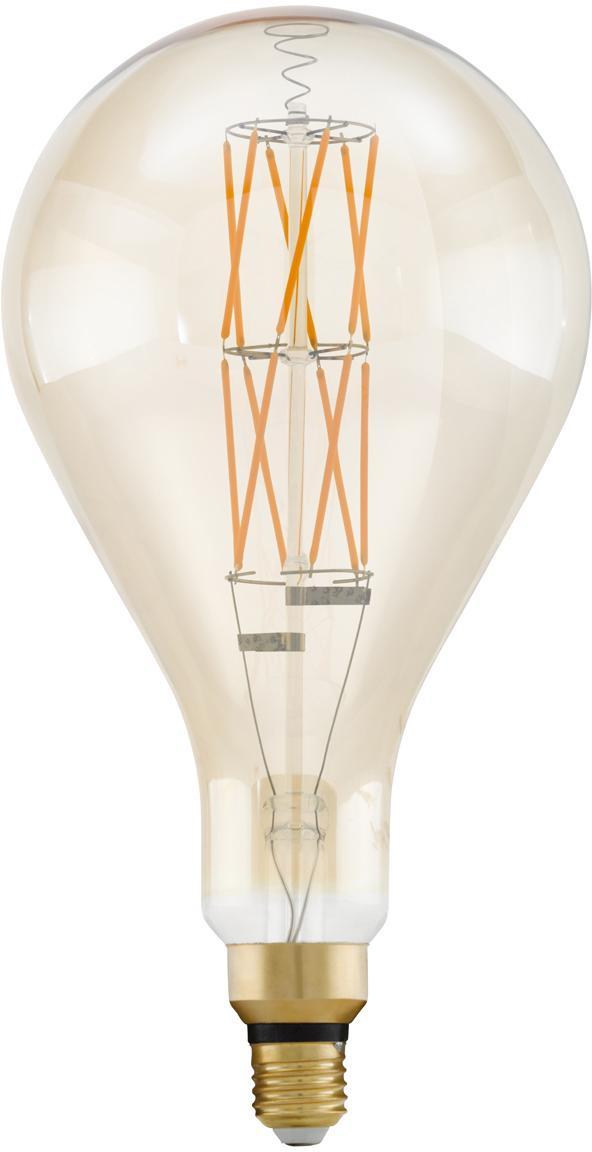 XL LED Leuchtmittel Crisscross (E27/8W), Leuchtmittelschirm: Glas, Leuchtmittelfassung: Aluminium, Transparent, Bernsteinfarben, Ø 16 x H 30 cm