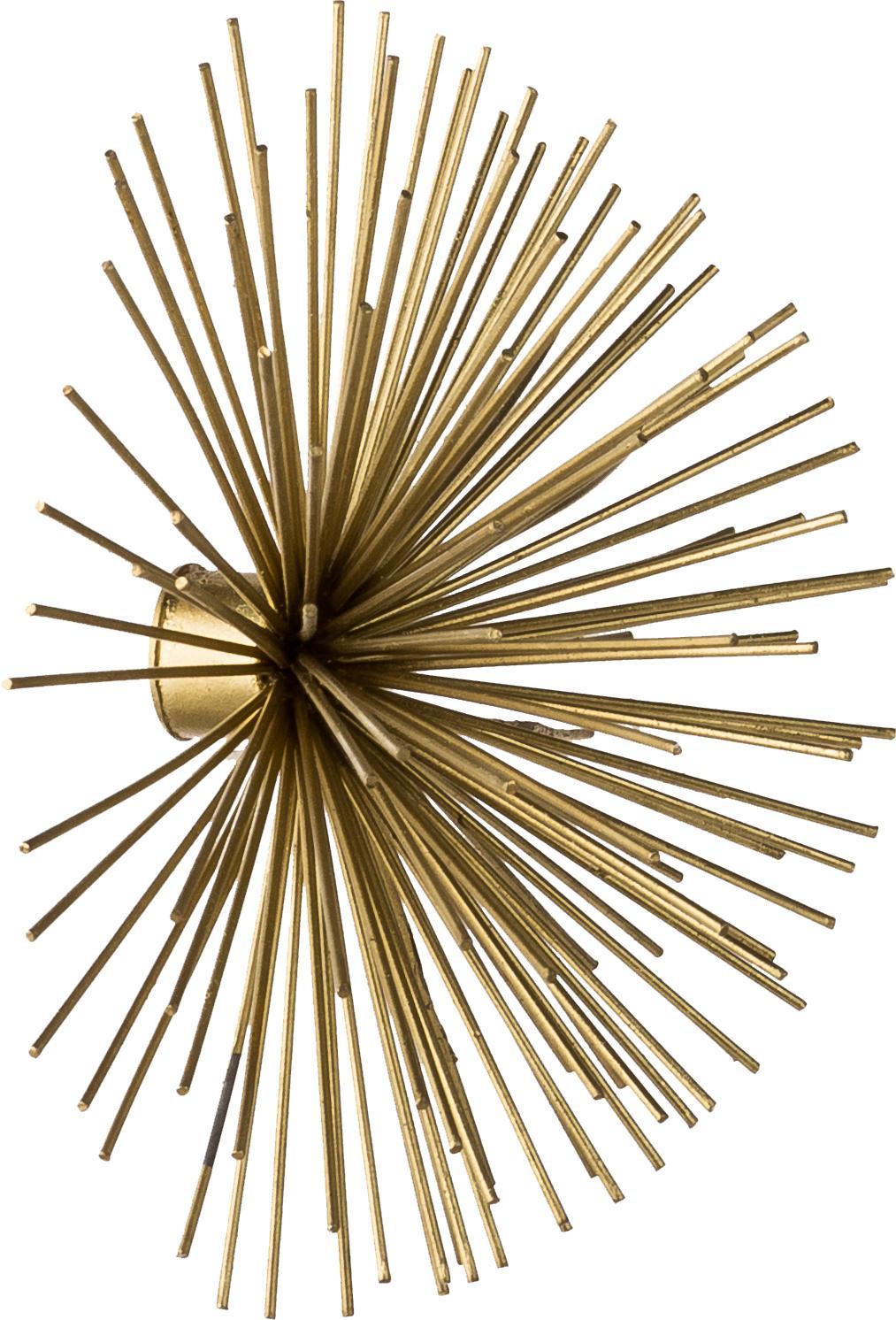 Wandobjectenset Spike van metaal, 3-delig, Metaal, Goudkleurig, Verschillende formaten