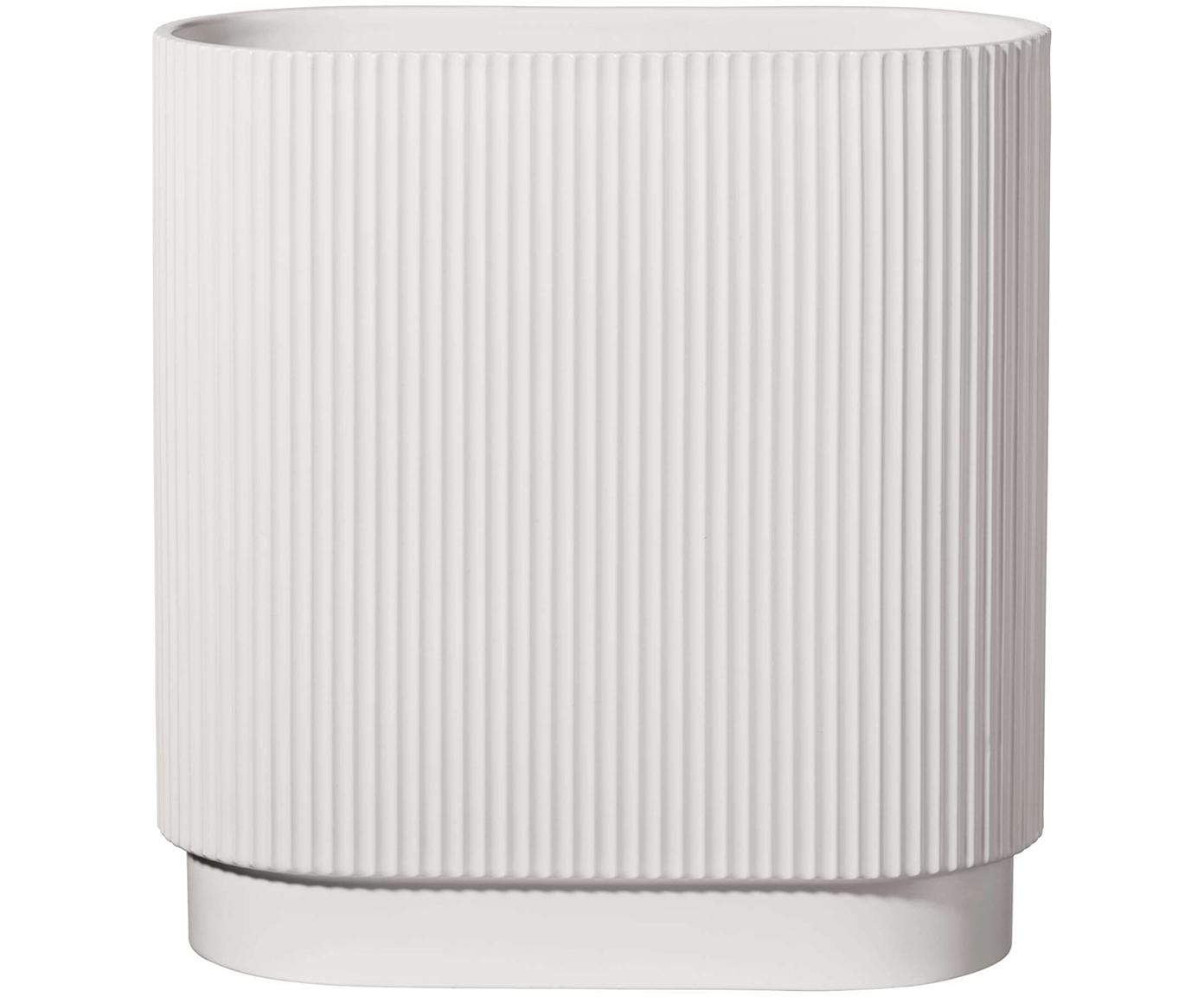Große Vase Art Deco aus Porzellan, Porzellan, Weiß, 35 x 40 cm