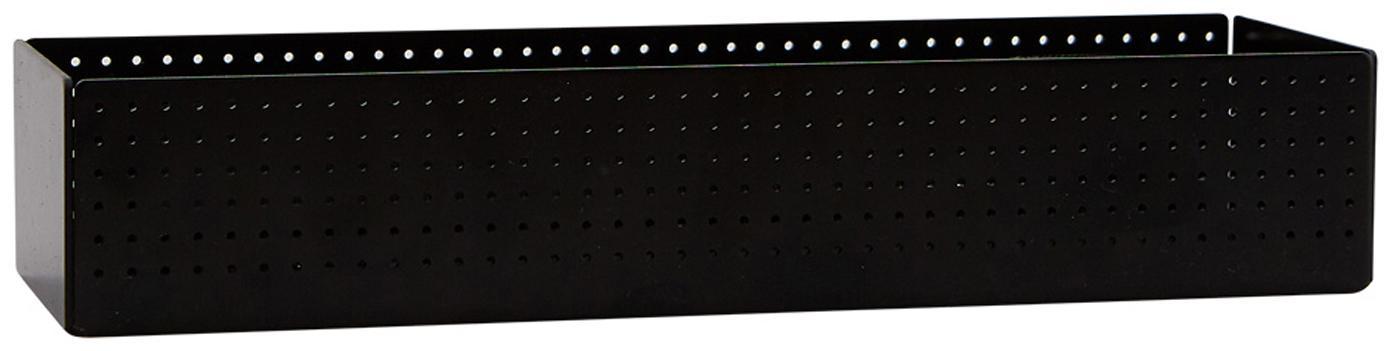Organizzatore da ufficio Smart, Acciaio verniciato, Nero, Larg. 25 x Alt. 5 cm