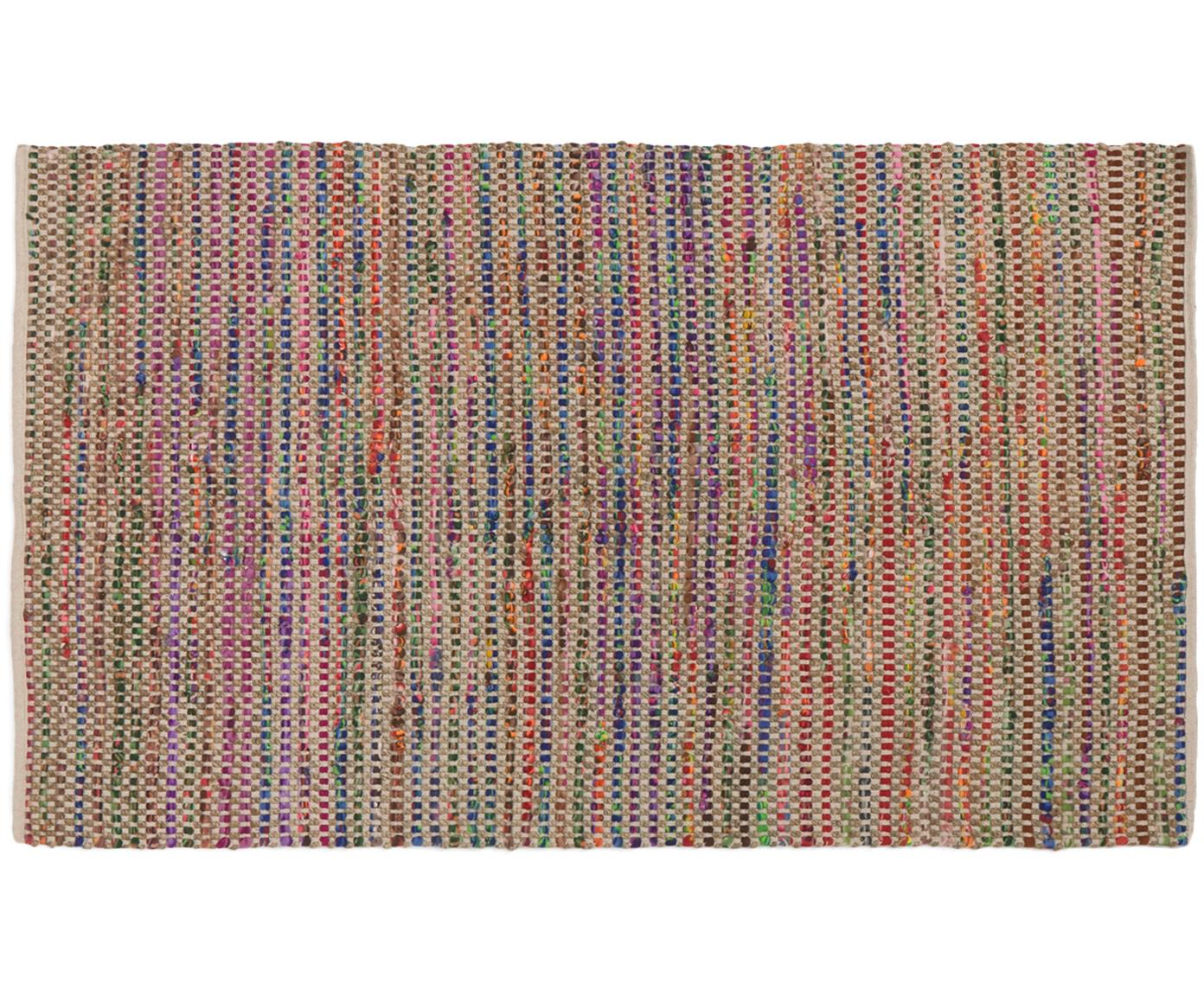 Tappeto colorato in mix juta Cando, 60% fibre sintetiche, 40% juta, Juta, multicolore, Larg. 60 x Lung. 90 cm (taglia XXS)