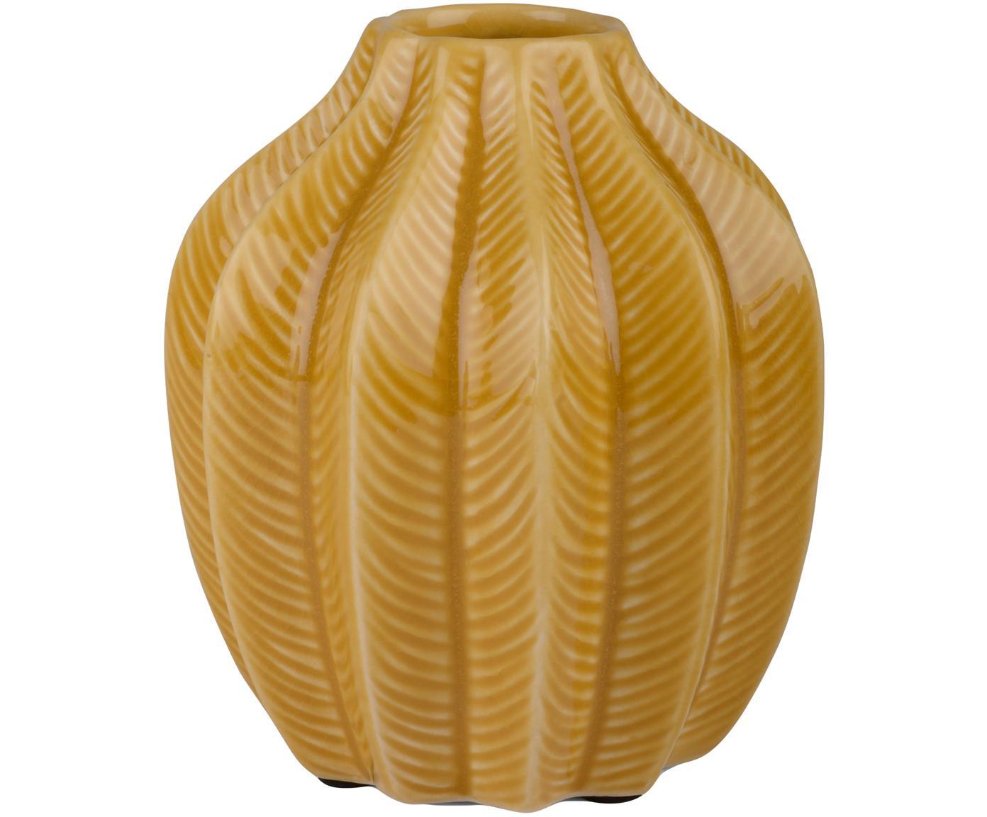 Wazon z ceramiki Felicia, Ceramika, Żółty, Ø 14 x W 15 cm