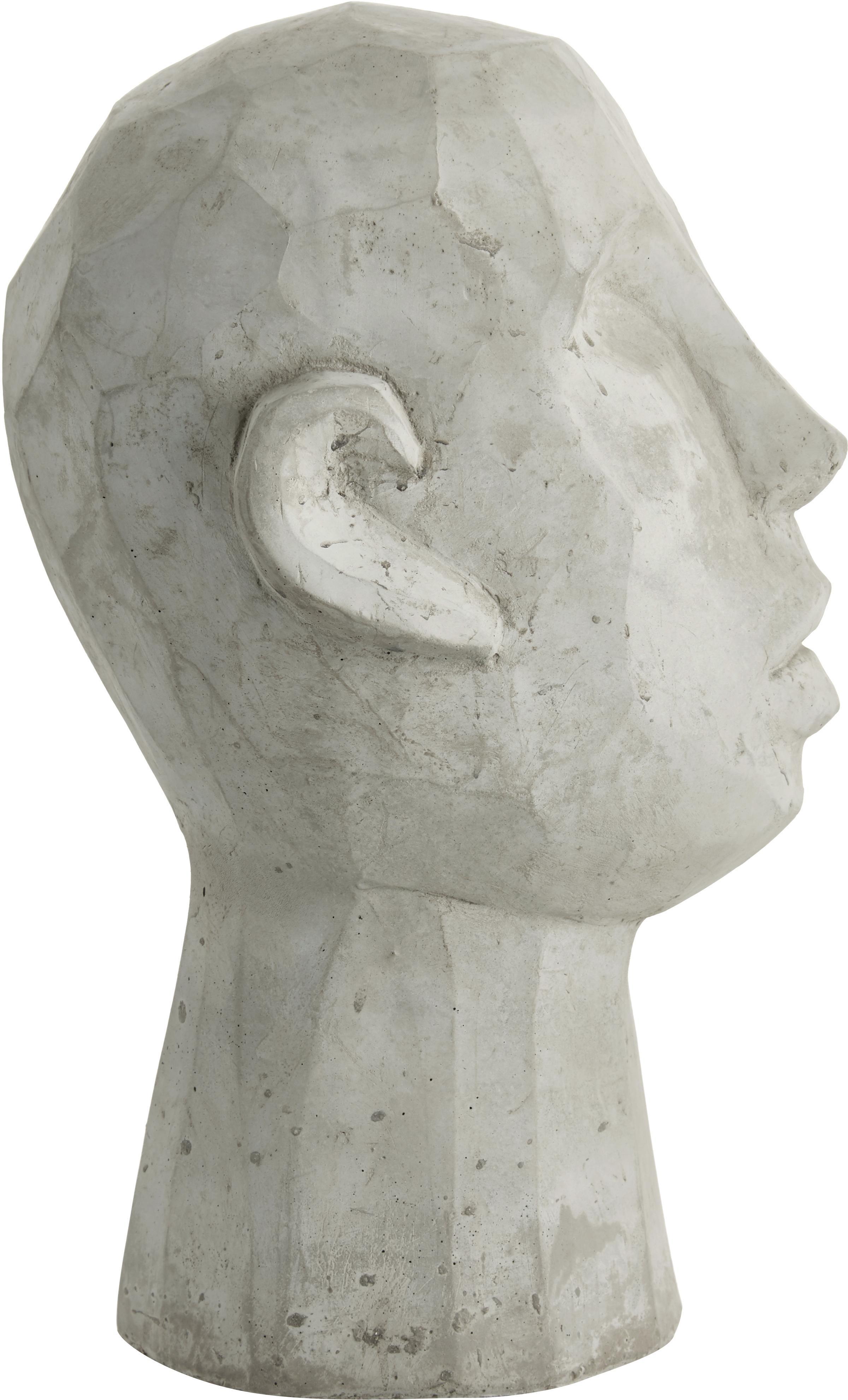 Figura decorativa Kopf, Cemento, Gris, An 20 x Al 30 cm