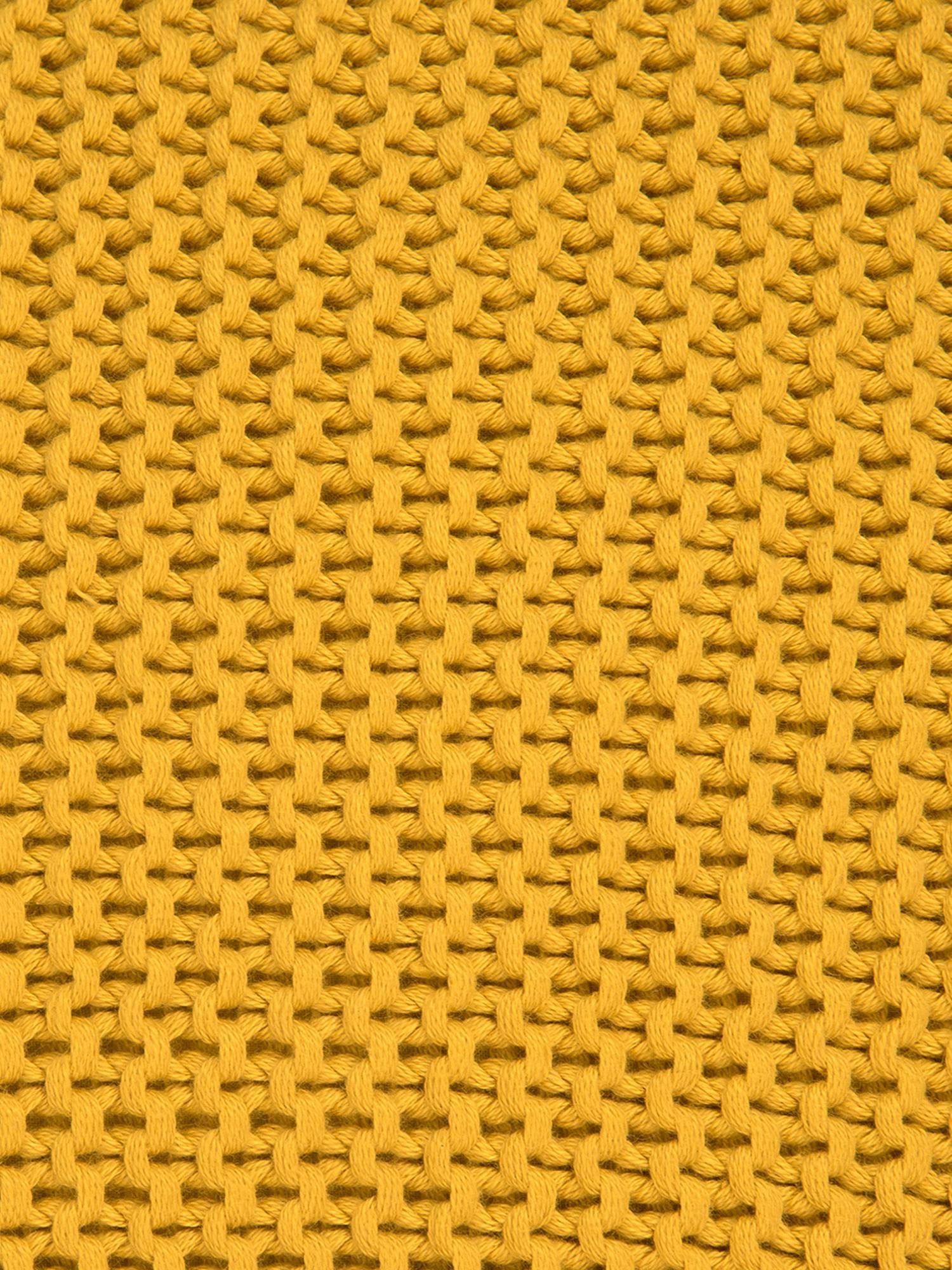 Strick-Kissenhülle Adalyn in Ockergelb, 100% Baumwolle, Ockergelb, 40 x 40 cm