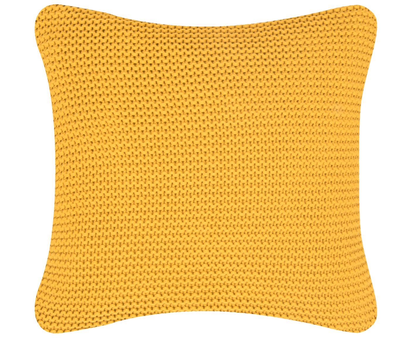 Poszewka na poduszkę z dzianiny Adalyn, 100% bawełna, Brunatnożółty, S 40 x D 40 cm