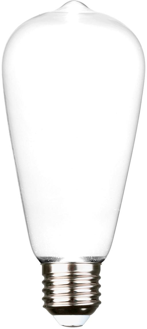 LED Leuchtmittel Ghost (E27/2.5W), Leuchtmittelschirm: Glas, Leuchtmittelfassung: Aluminium, Weiß, Aluminium, Ø 6 x H 15 cm
