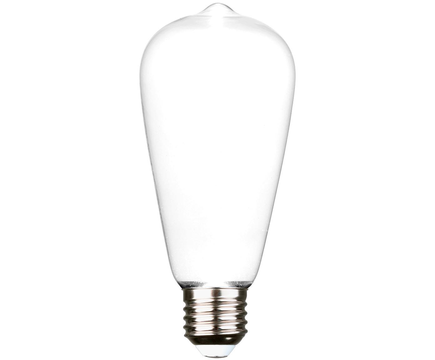 LED Leuchtmittel Ghost (E27/2.5W), Leuchtmittelschirm: Glas, Leuchtmittelfassung: Aluminium, Weiss, Aluminium, Ø 6 x H 15 cm