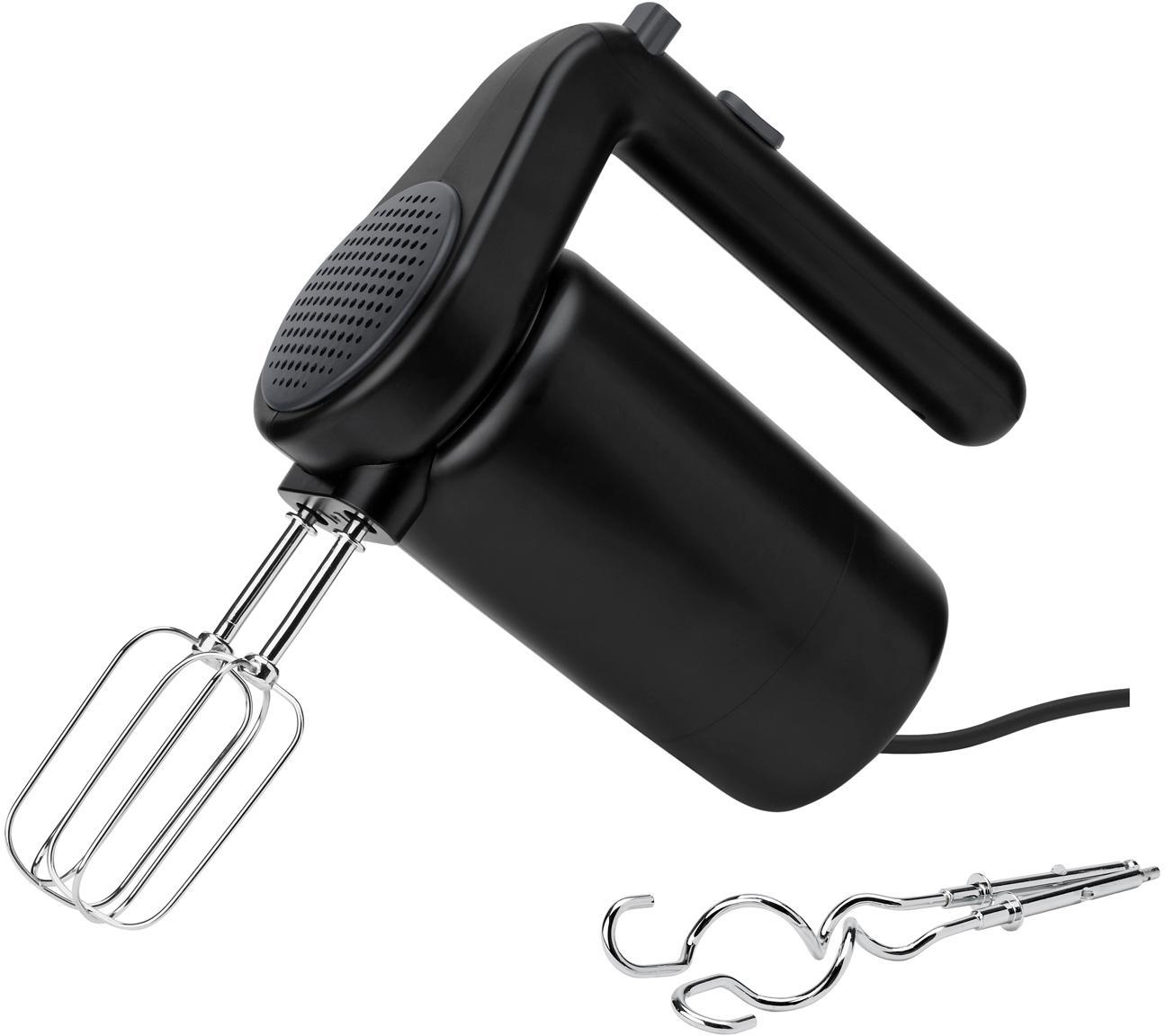 Miscelatore elettrico Foodie, Plastica, acciaio inossidabile, Nero, Larg. 19 x Alt. 17 cm
