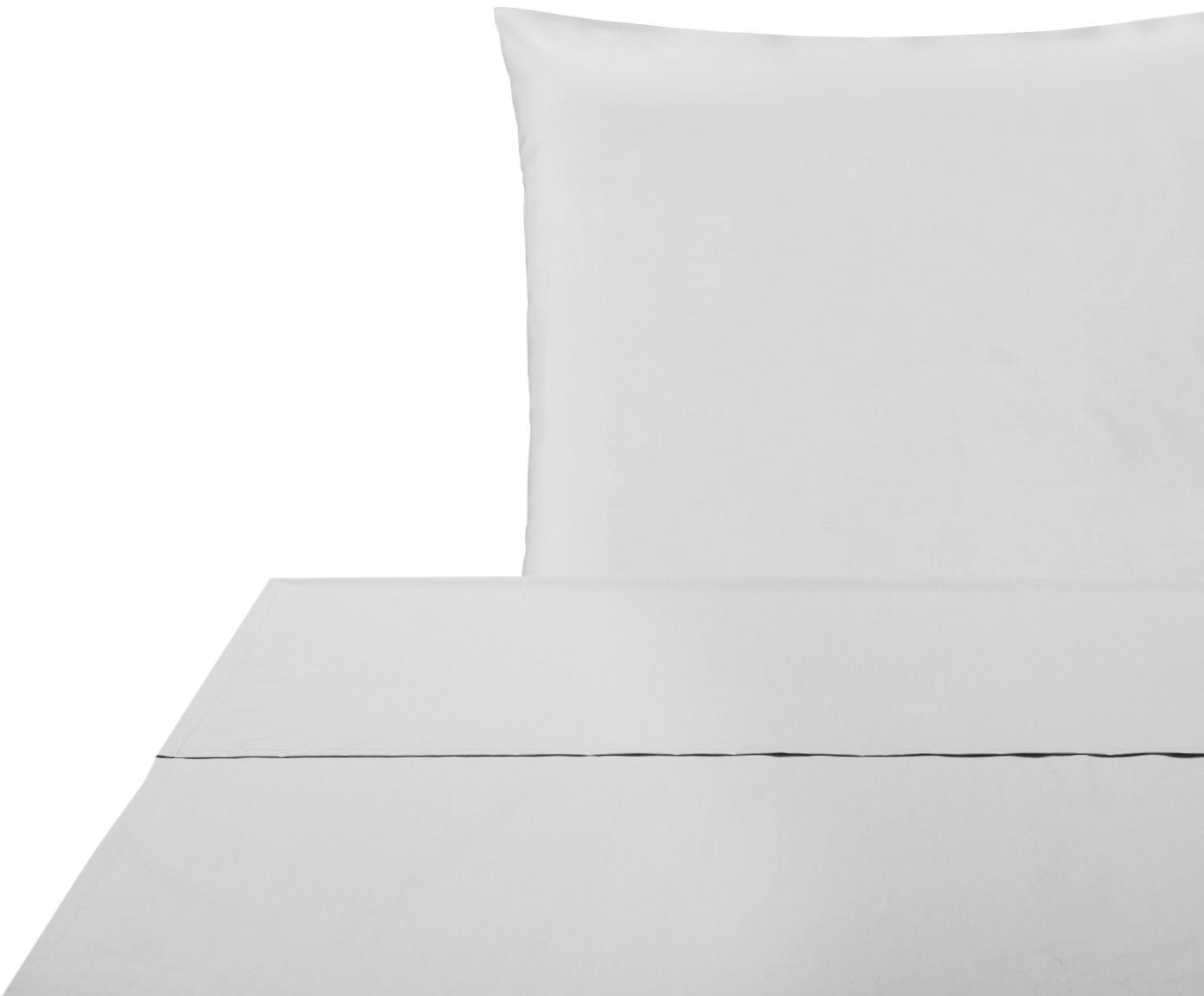 Set lenzuola in percalle Elsie 2 pz, Tessuto: percalle Densità del filo, Grigio chiaro, 150 x 300 cm