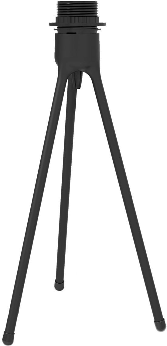 Base de la lámpara de mesa Tripod, Base de la lámpara: aluminio, recubierto, Cable: cubierto en tela, Negro, Ø 19 x Al 36 cm