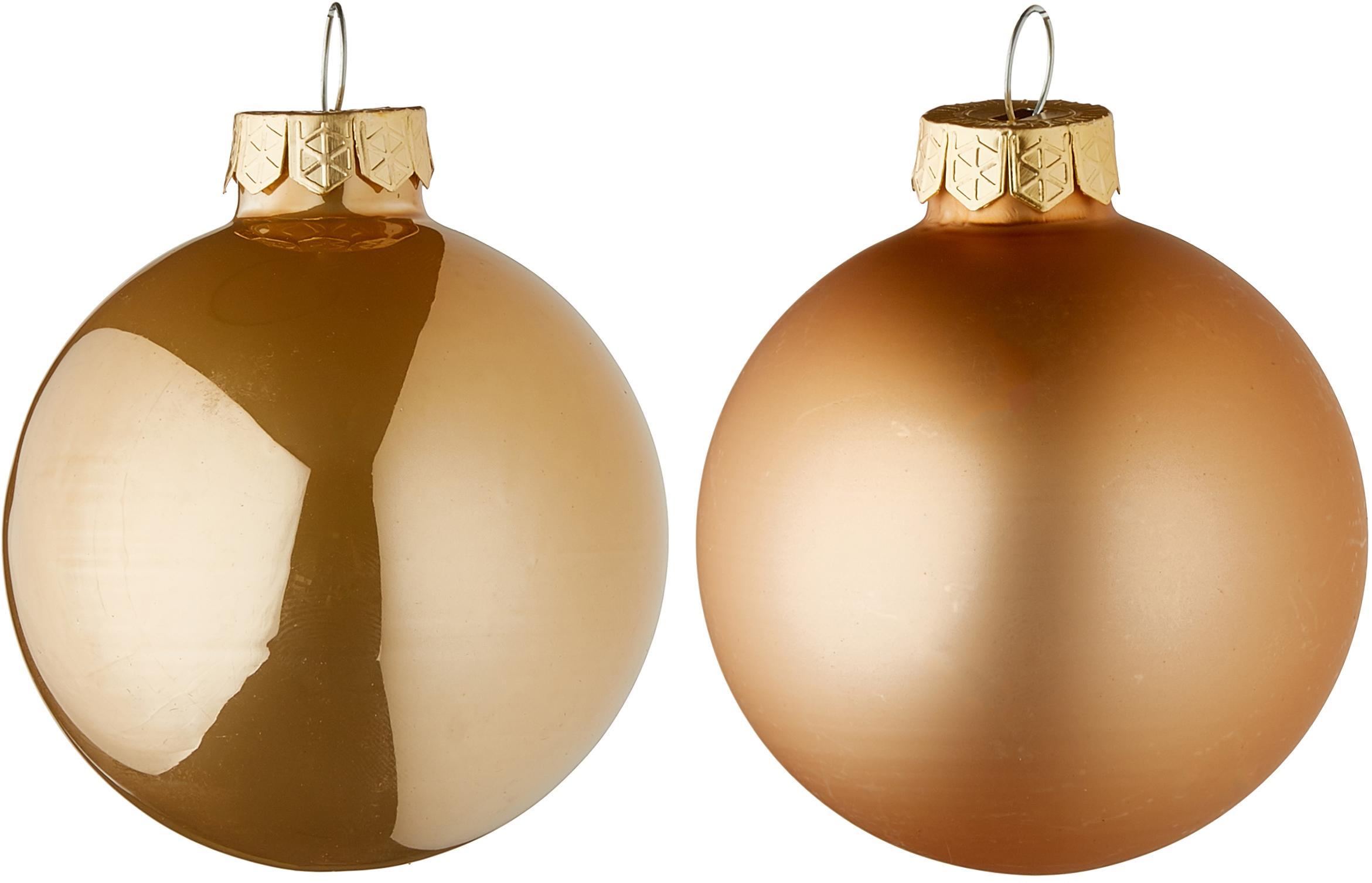 Weihnachtskugel-Set Evergreen Ø6cm,10-tlg., Kamelbraun, Ø 6 cm