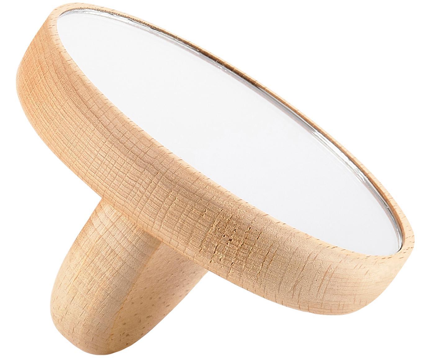 Lusterko kosmetyczne Inu, Drewno, szkło lustrzane, Drewno naturalne, S 9 x W 5 cm