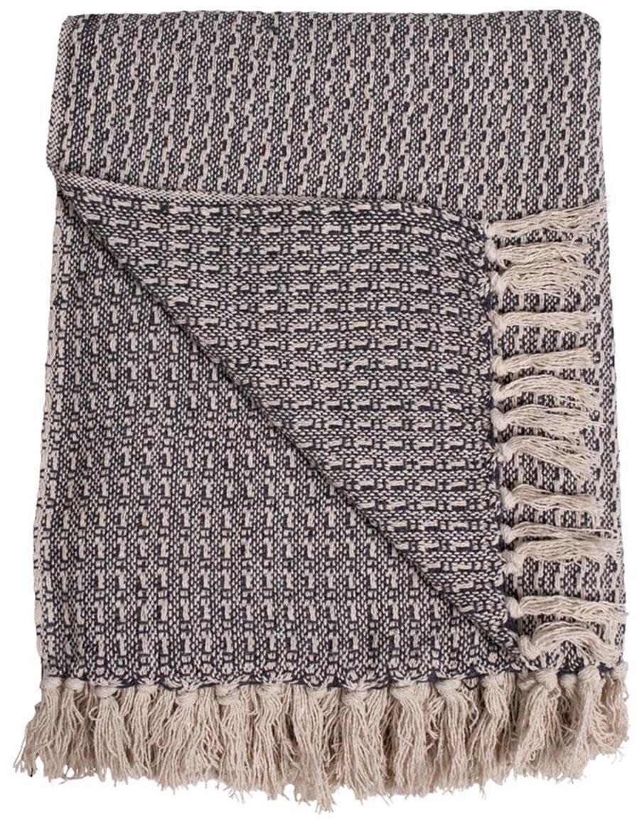 Manta Cort, Algodón, Gris, An 160 x L 160 cm