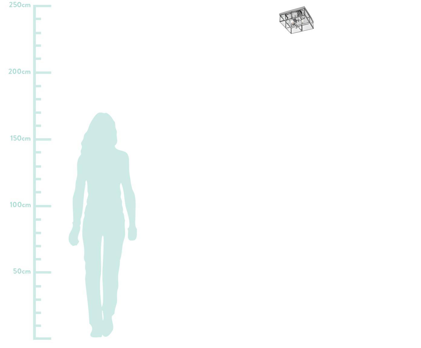 Moderne Deckenleuchte Ben, Chrom, Transparent, 26 x 10 cm