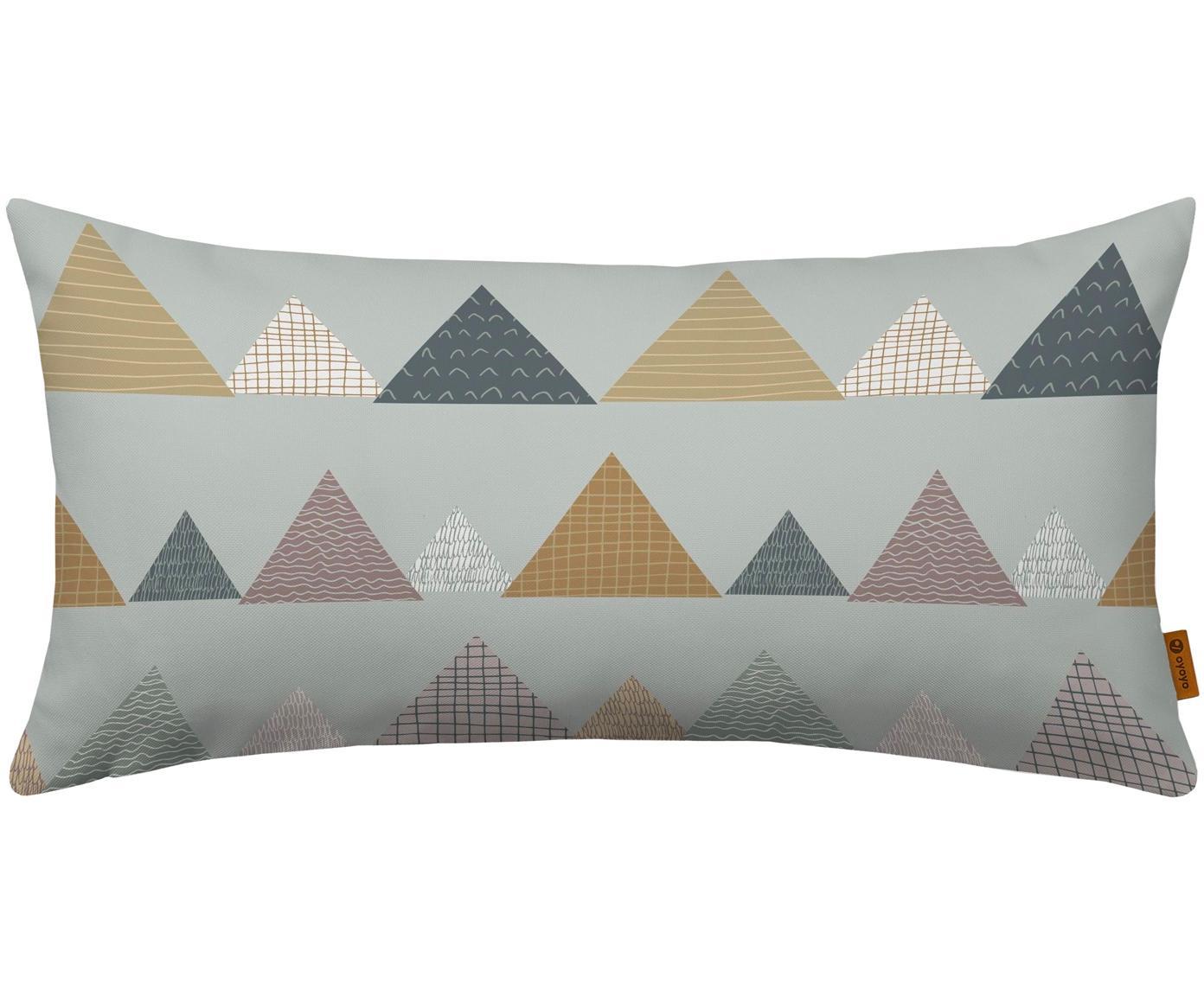 Kissen Mountains, mit Inlett, Bezug: Baumwolle, Grau, Mehrfarbig, 30 x 60 cm