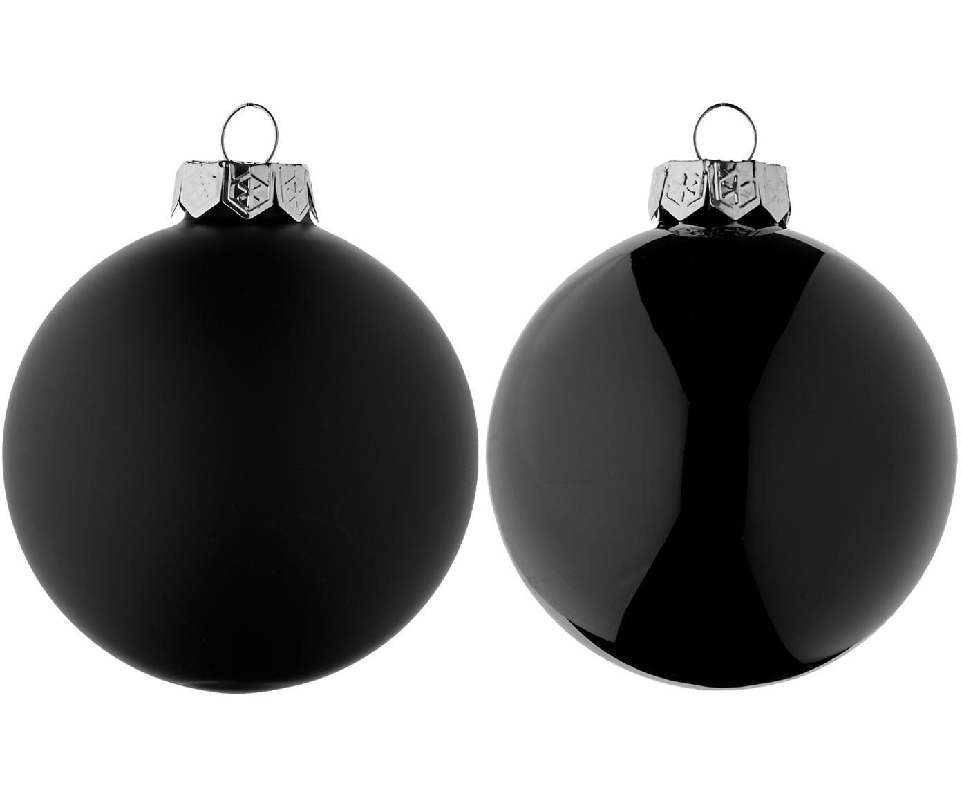 Weihnachtskugel-Set EvergreenØ8cm, 6-tlg., Schwarz, Ø 8 cm