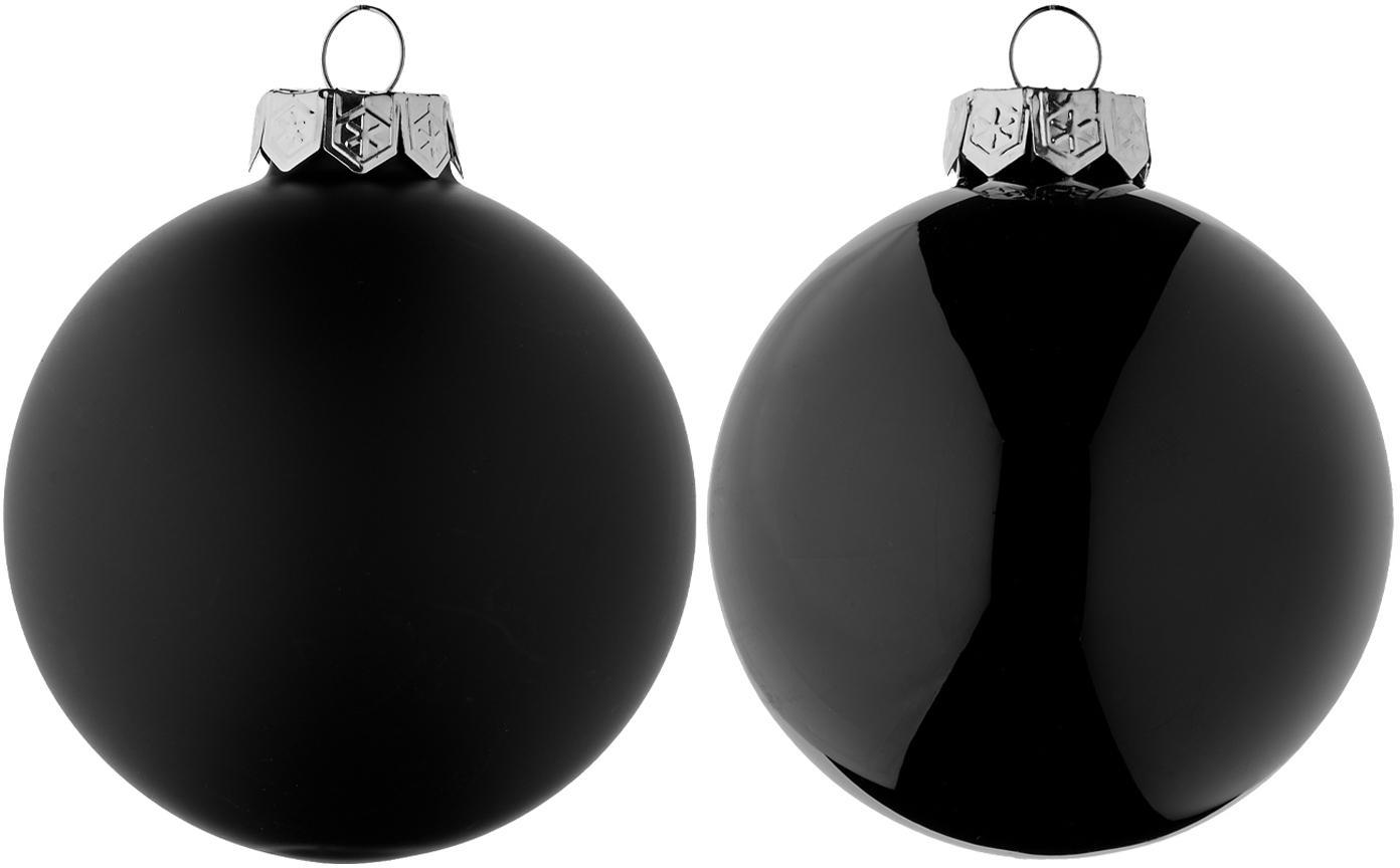 Weihnachtskugel-Set Evergreen Ø8cm,6-tlg., Schwarz, Ø 8 cm