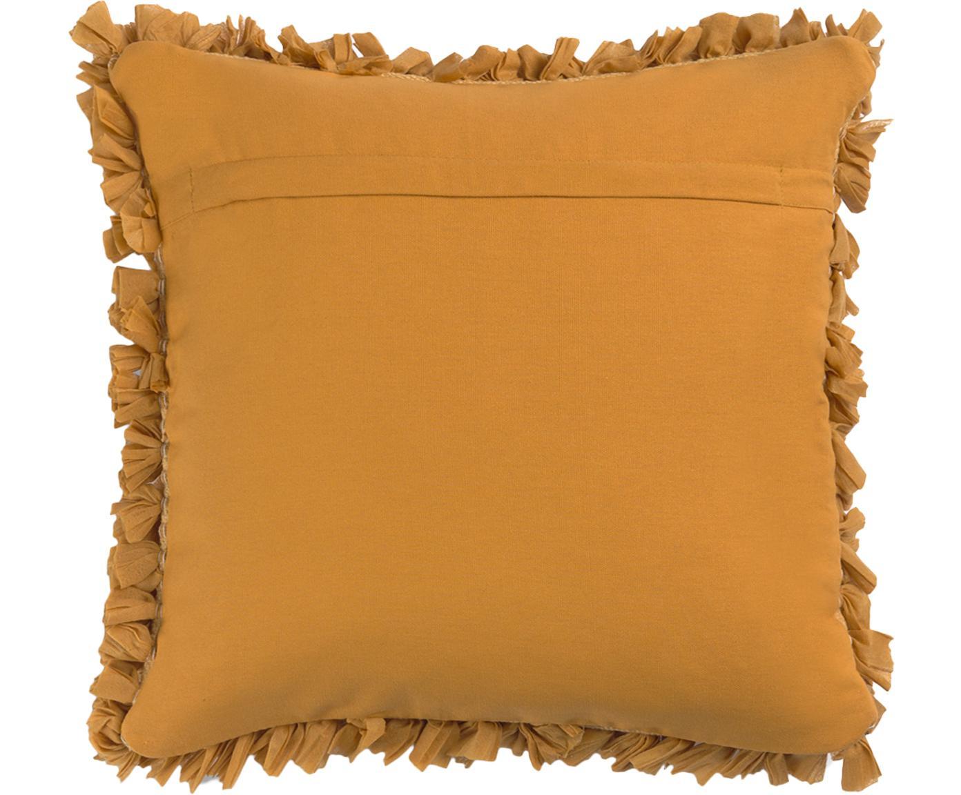 Poszewka na poduszkę z wypukłą powierzchnią Aqia, 50% poliester, 50% bawełna, Musztardowy, S 45 x D 45 cm