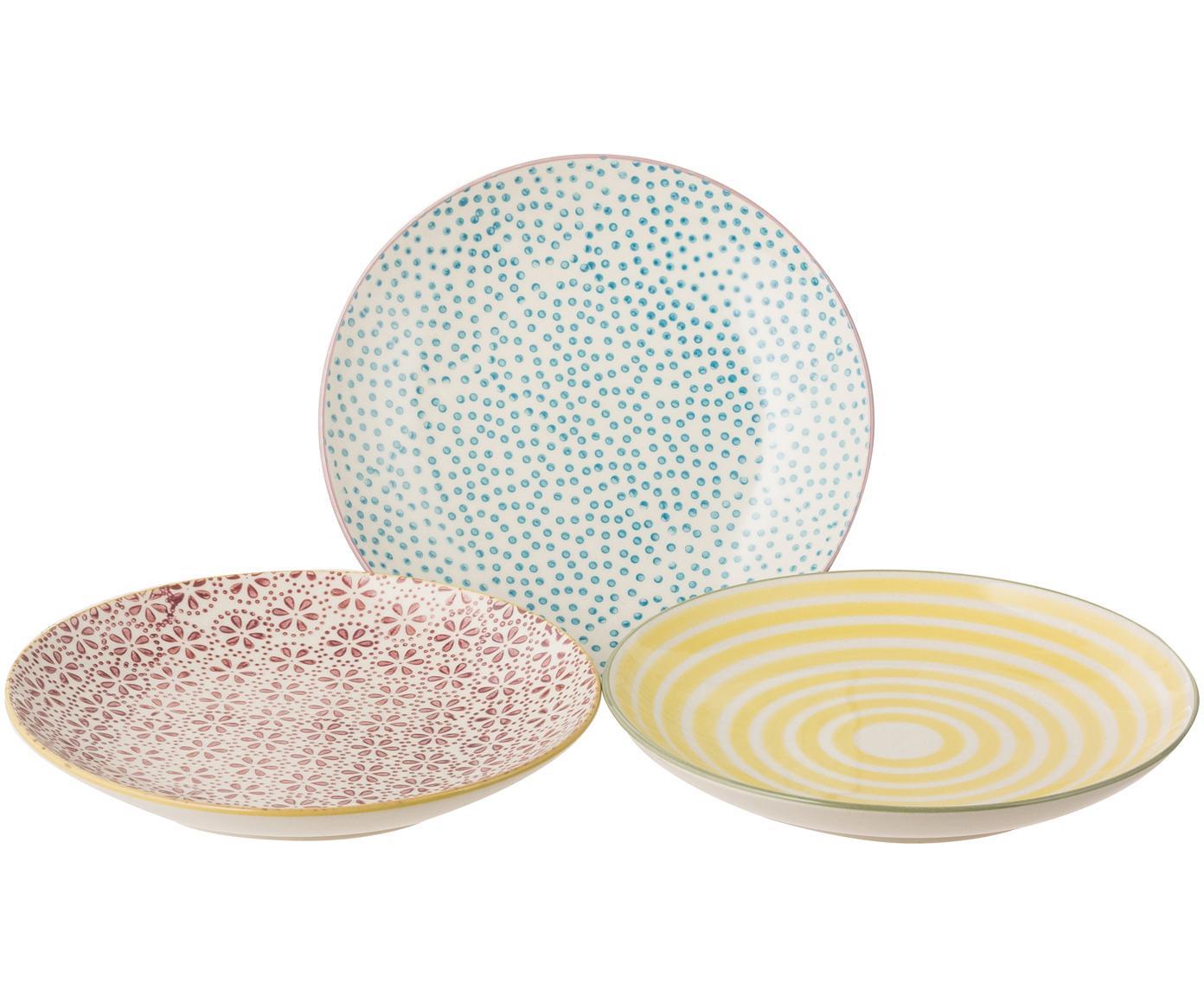 Platos de pan Holly, 3uds., Gres, Multicolor, Ø 16 cm