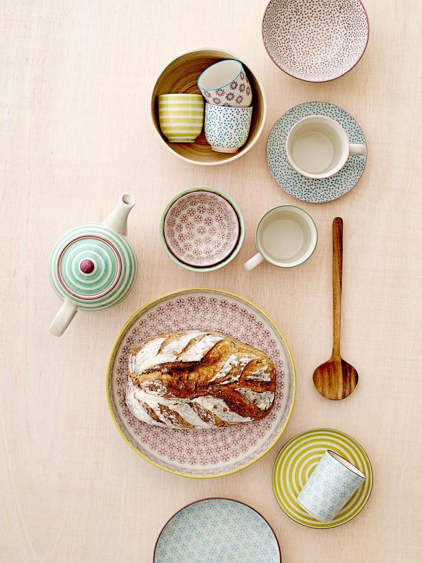 Ensemble d'assiettes à pain Holly, 3élém., Multicolore