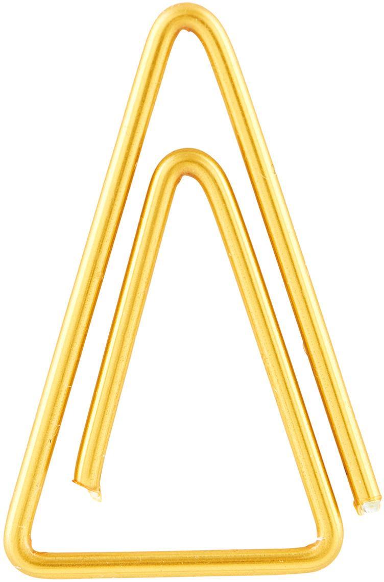 Paperclips Triangle, 20 stuks, Vermessingd edelstaal, Messingkleurig, L 3 cm