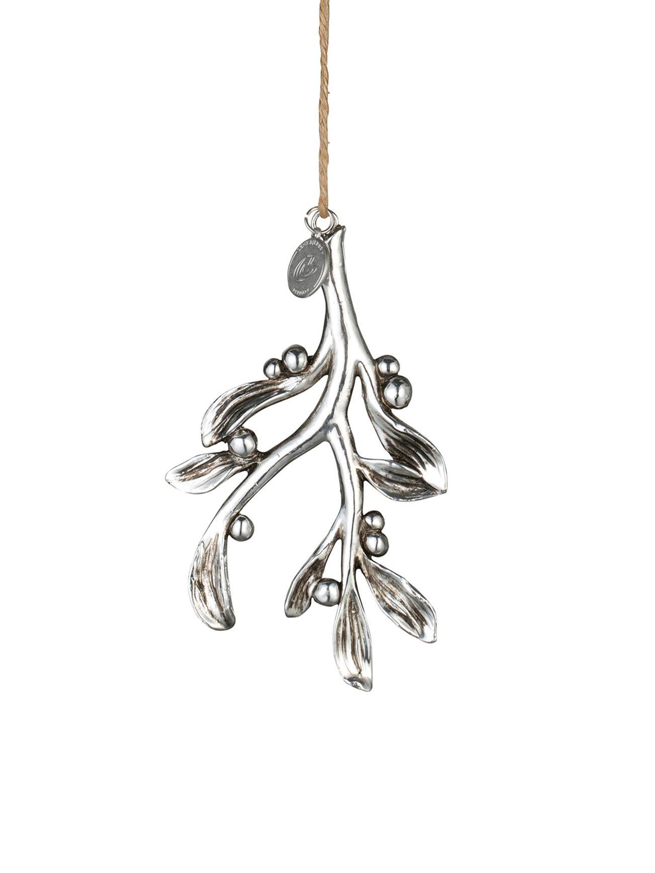 Ciondolo Serafina Mistletoe 2 pz, Cinturino: iuta, Argento, L 7 x A 11 cm