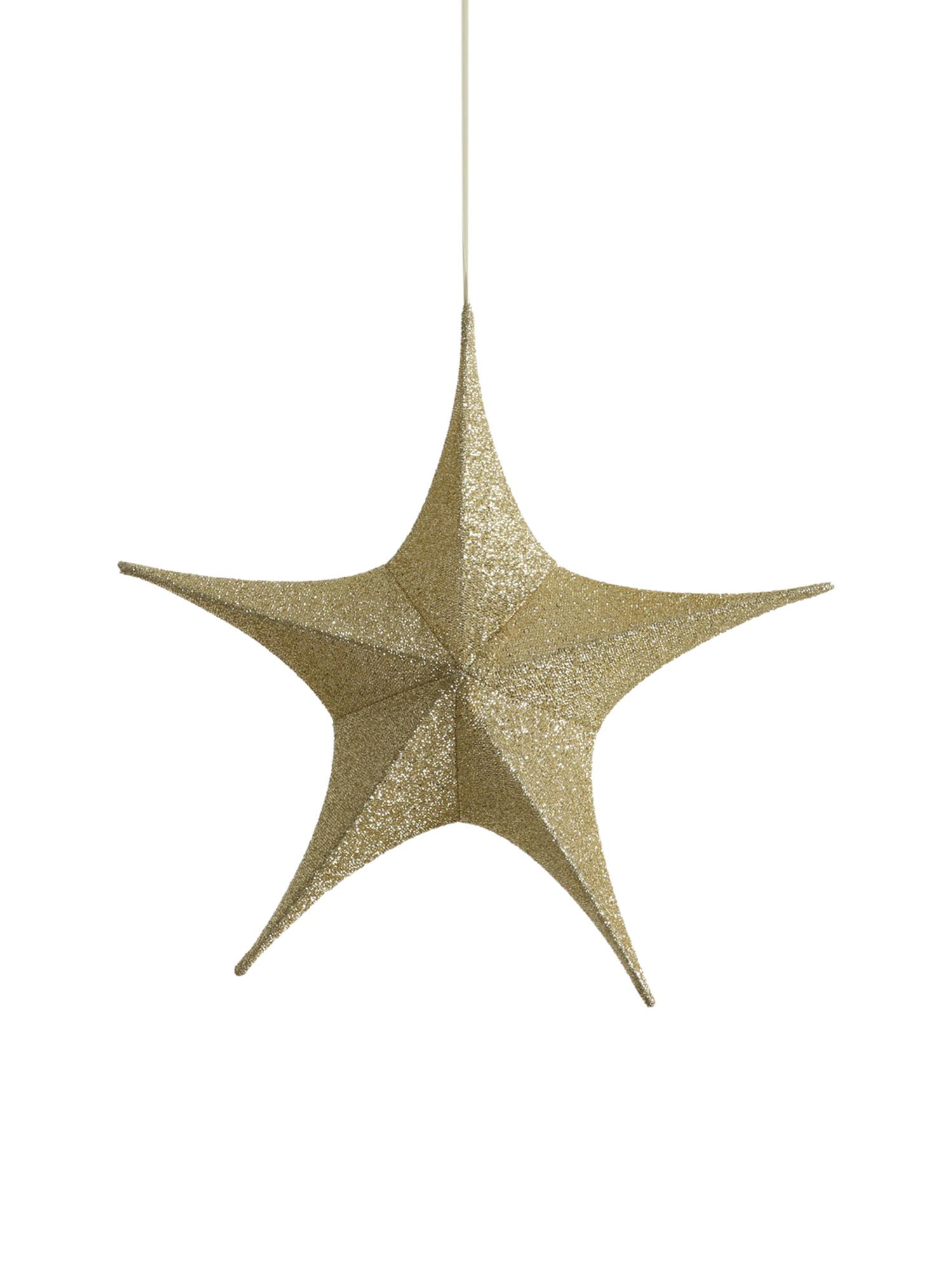 Deko-Objekt Kamilla, Bezug: Polyester, Gestell: Metall, Goldfarben, 65 x 60 cm