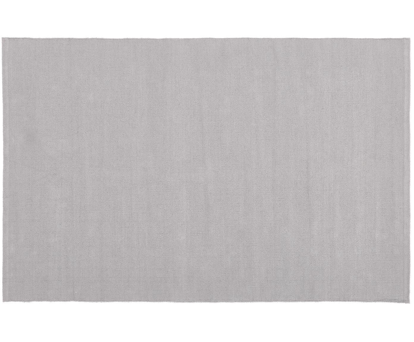 Ręcznie tkany dywan z bawełny Agneta, Bawełna, Szary, S 70 x D 140 cm