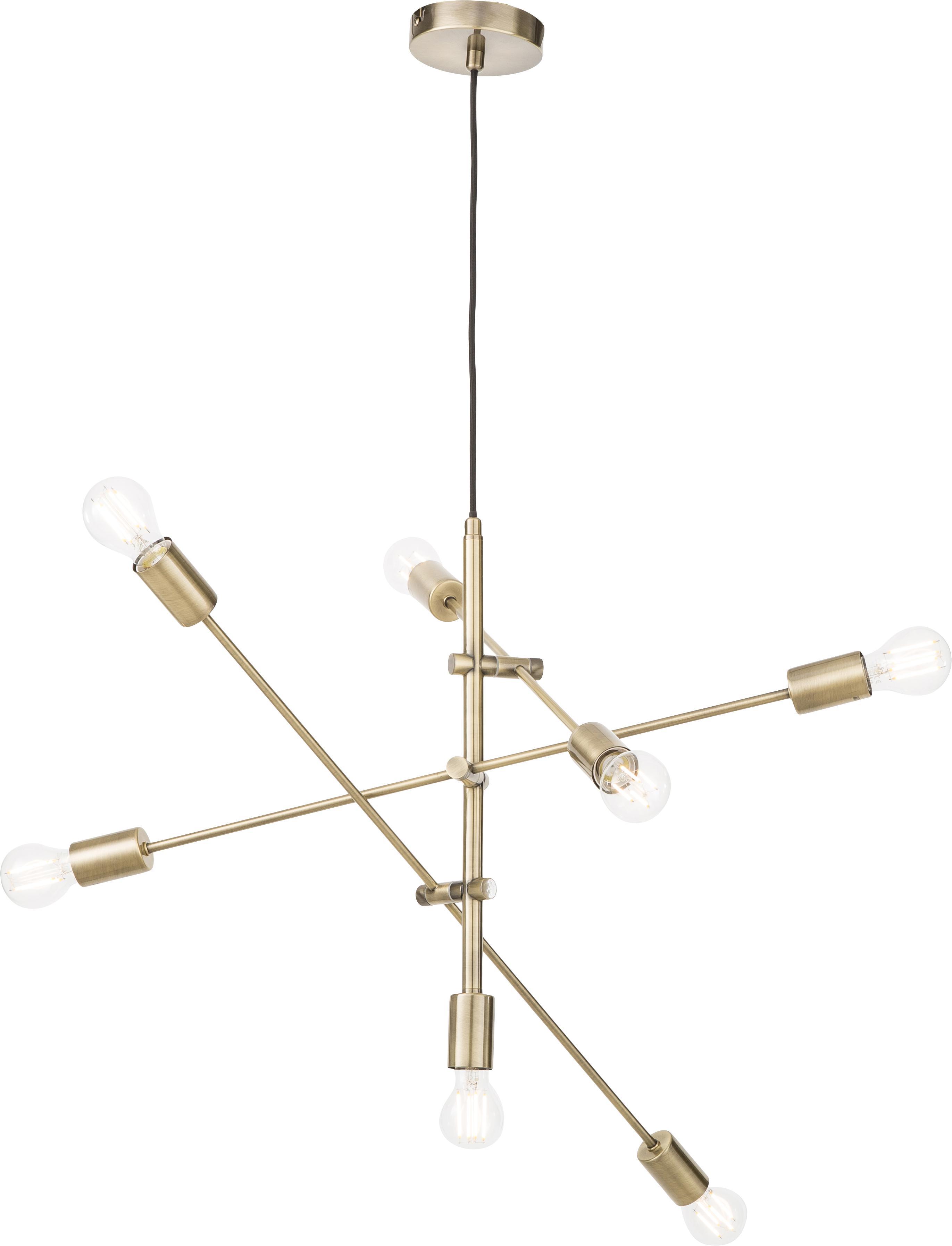 Lampa wisząca Visby, Mosiądz, S 84 x W 49 cm