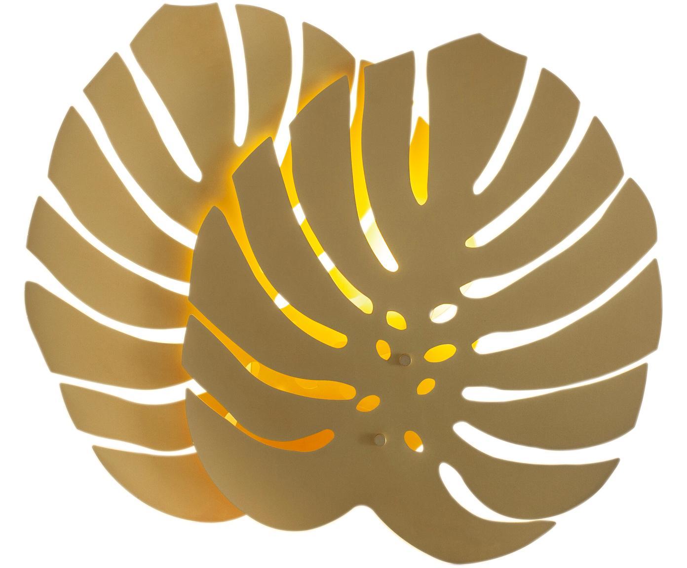 Aplique Costa Rica, con enchufe, Lámpara: latón recubierto, Cable: plástico, Latón, An 47 x Al 40 cm