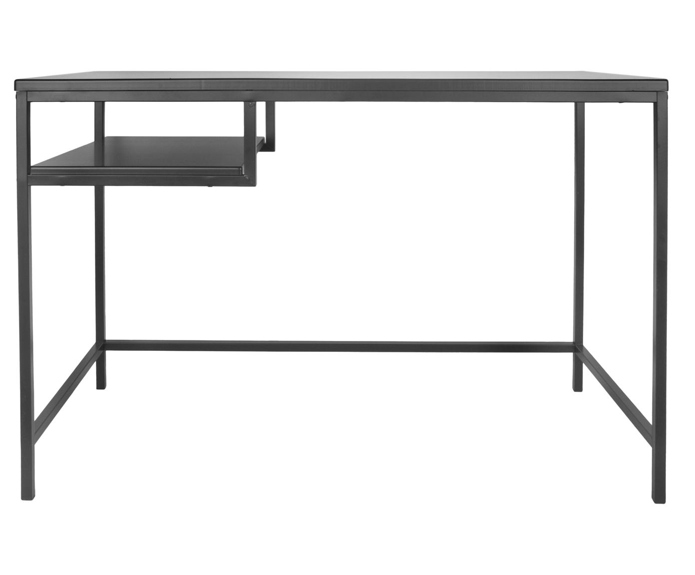 Escritorio Fushion, Estructura: metal con pintura en polv, Negro, An 114 x Al 76 cm