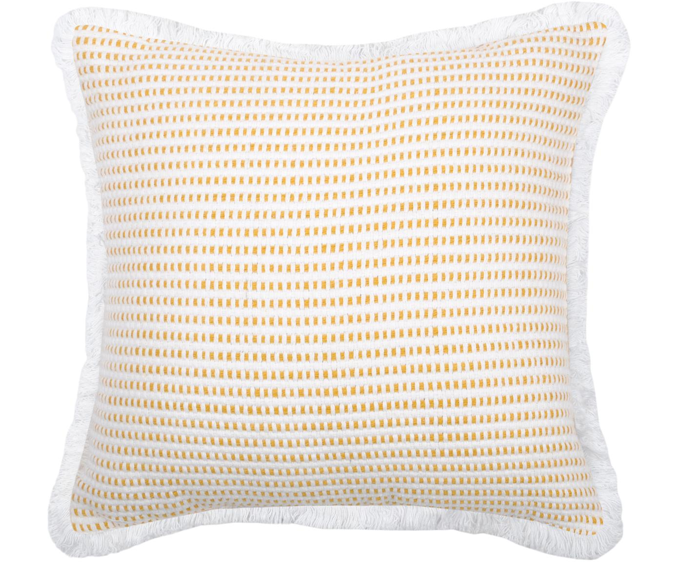 Poduszka z wypełnieniem  Salamanca, Bawełna, Biały, żółty, S 40 x D 40 cm