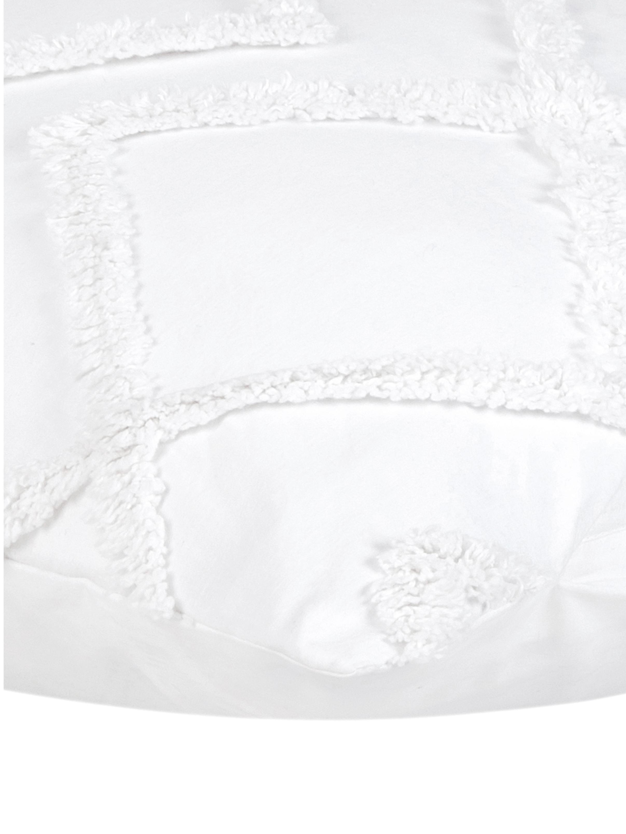 Baumwollperkal-Kissenbezüge Faith mit getufteter Verzierung, 2 Stück, Webart: Perkal Fadendichte 180 TC, Weiß, 40 x 80 cm