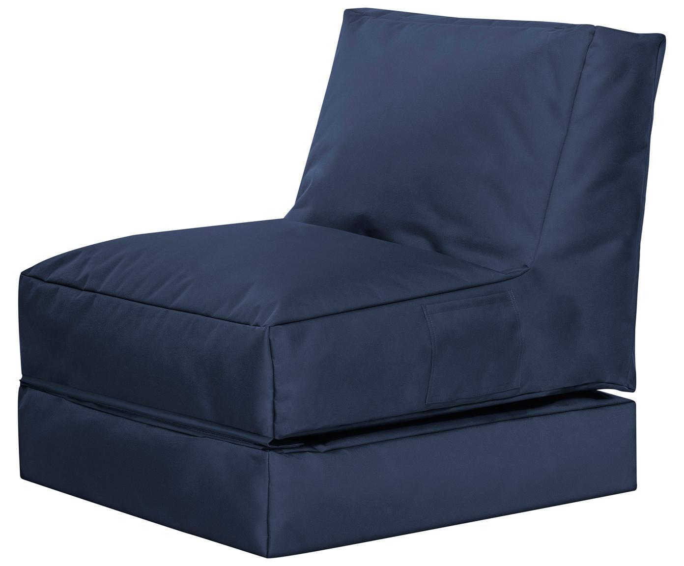 Fotel ogrodowy z funkcją leżenia Pop Up, Tapicerka: 100% poliester Wewnątrz p, Jeansowy niebieski, S 70 x G 90 cm