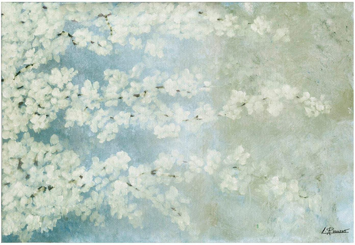 Impresión digital sobre lienzo Cerezo, Multicolor, An 60 x Al 40 cm