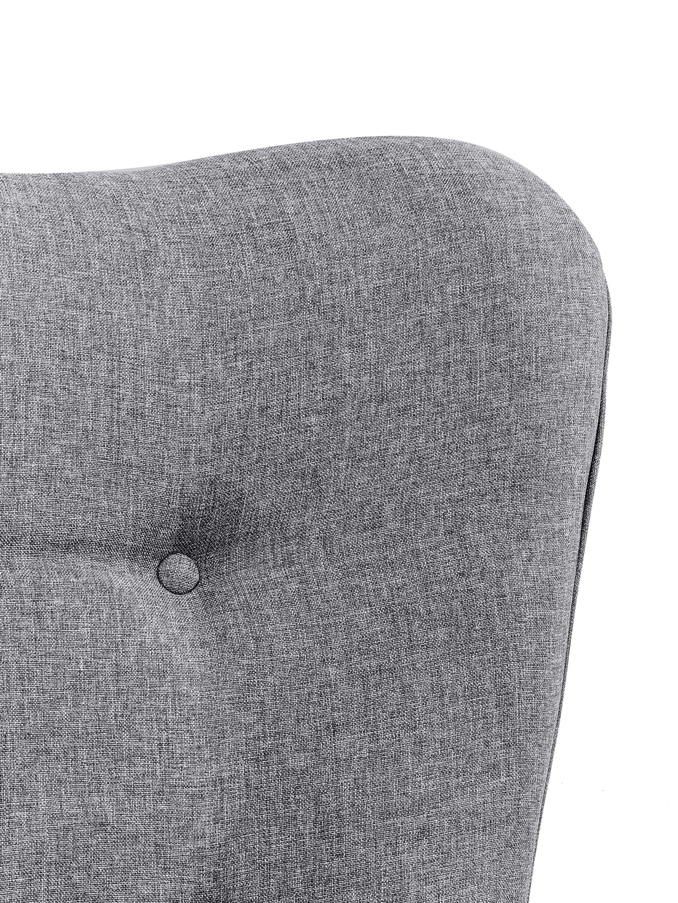 Fauteuil à oreilles gris Vicky, Tissu gris