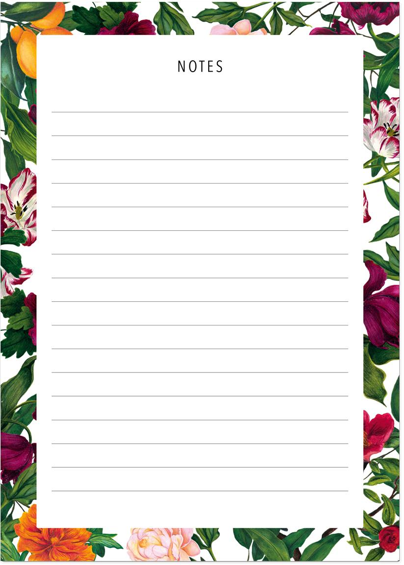 Notitieblok The English Garden, Papier, Multicolour, 11 x 15 cm