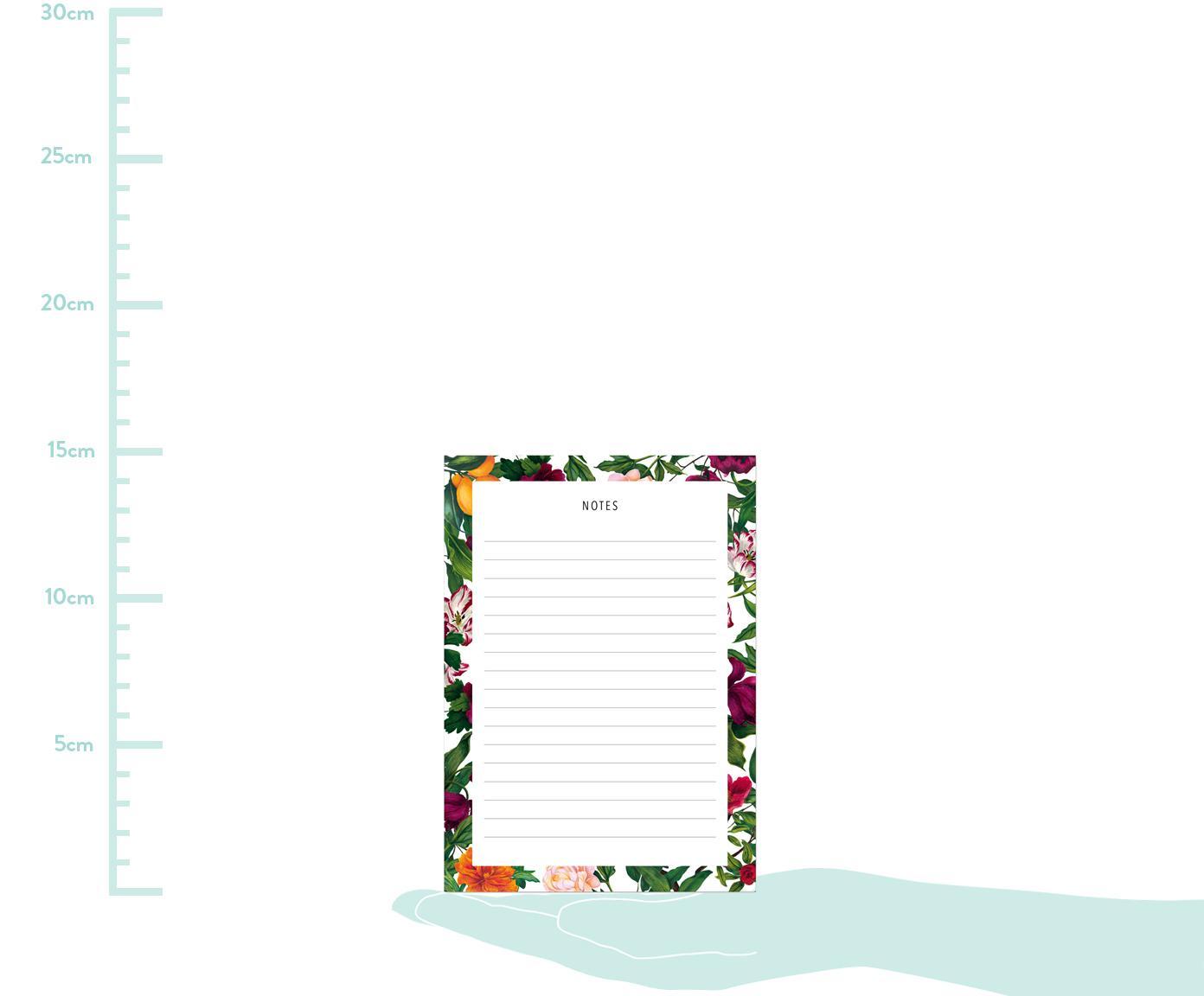 Notizblock The English Garden, Papier, Mehrfarbig, 11 x 15 cm