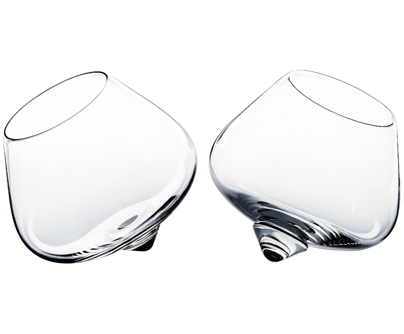 Likörgläser Branda im außergewöhnlichen Design, 2er-Set, Glas, Transparent, 150 ml