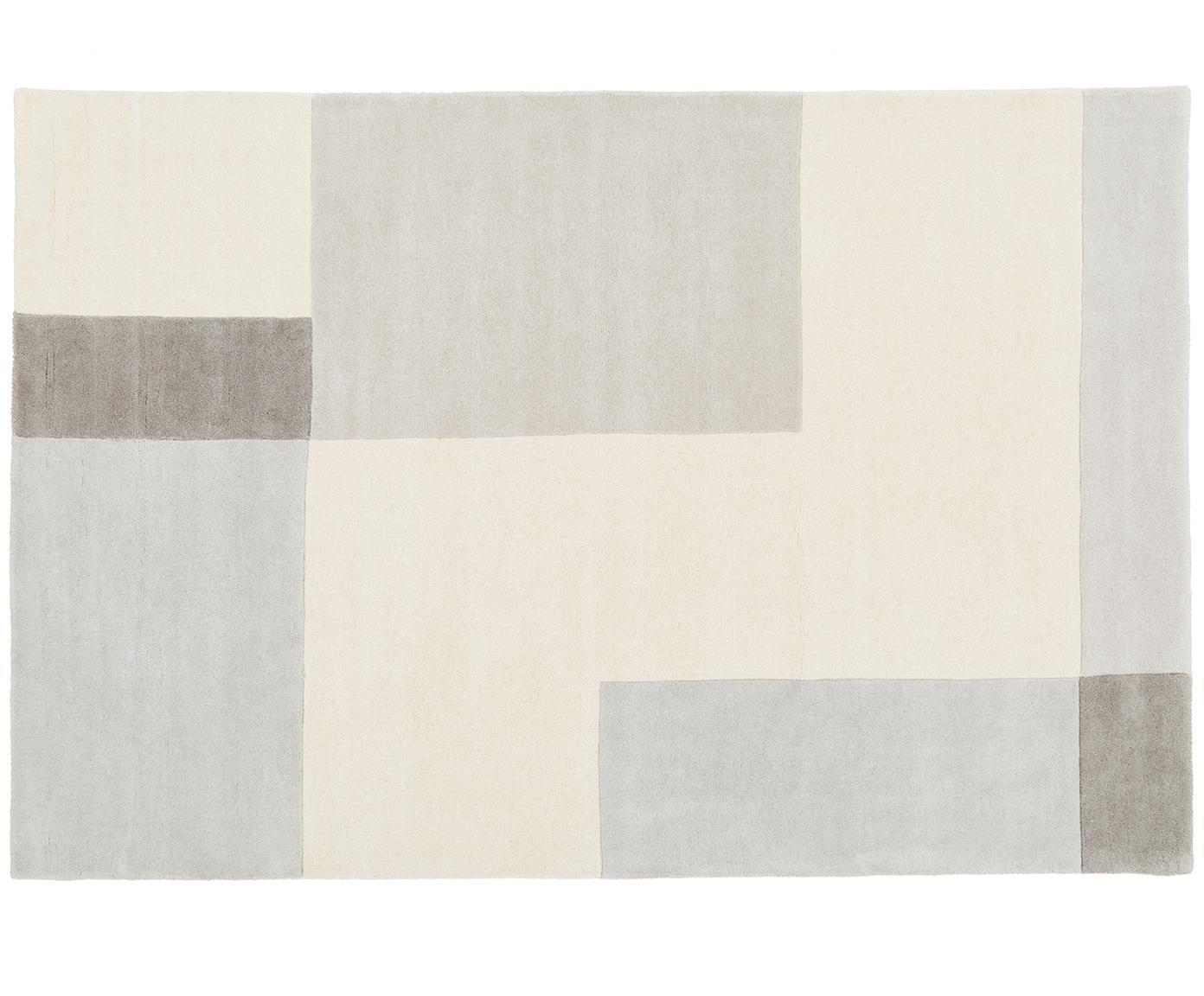 Ręcznie tuftowany dywan z wełny Keith, Beżowy, szary, 200 x 300 cm (Rozmiar L)