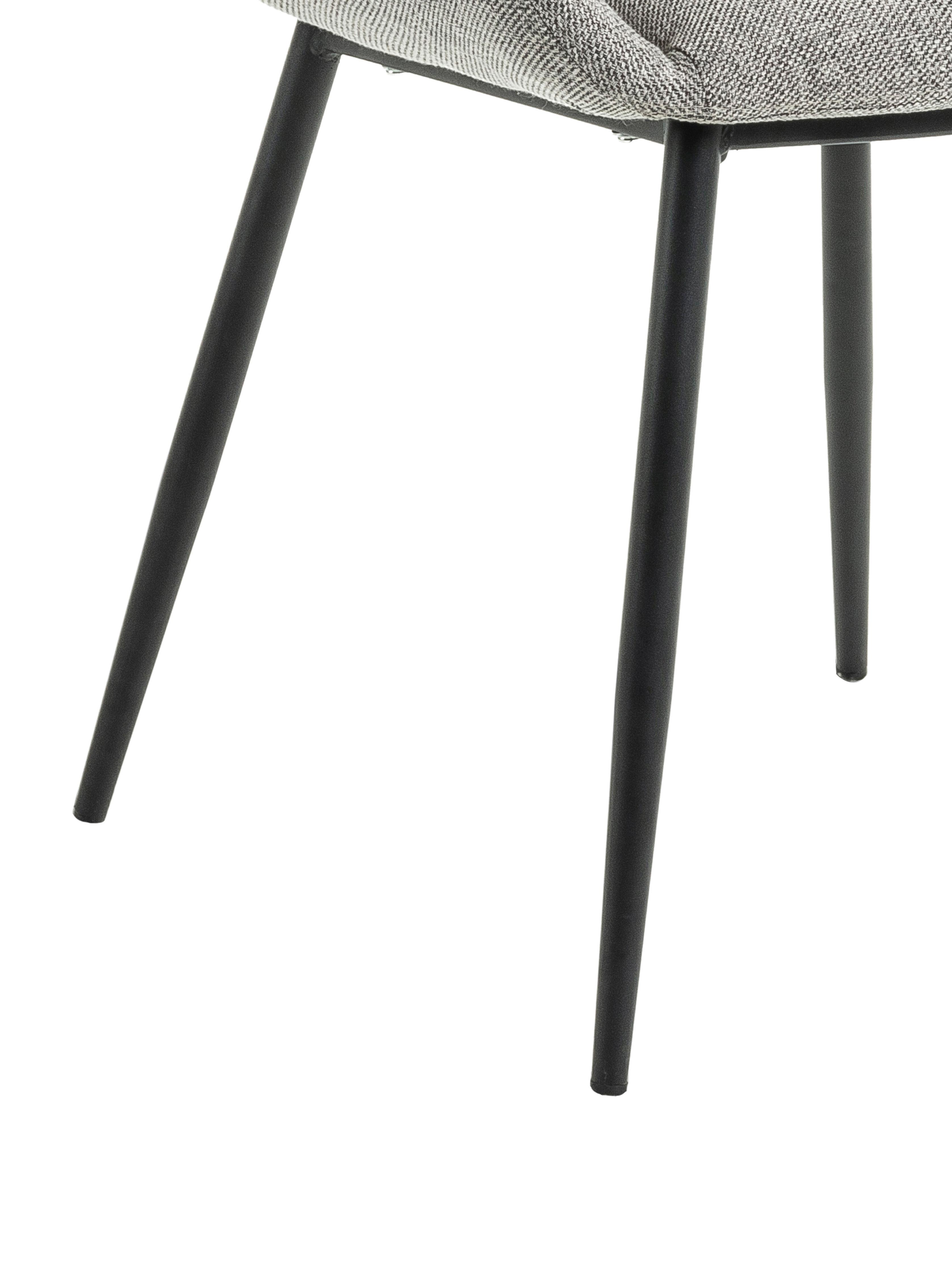 Chaises à accoudoirs grises Kona, 2 pièces, Gris