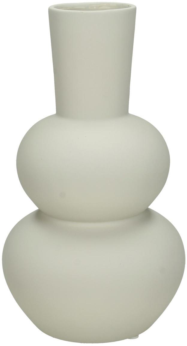 Vase Eathan aus Steingut, Steingut, Hellgrau, Ø 11 x H 20 cm