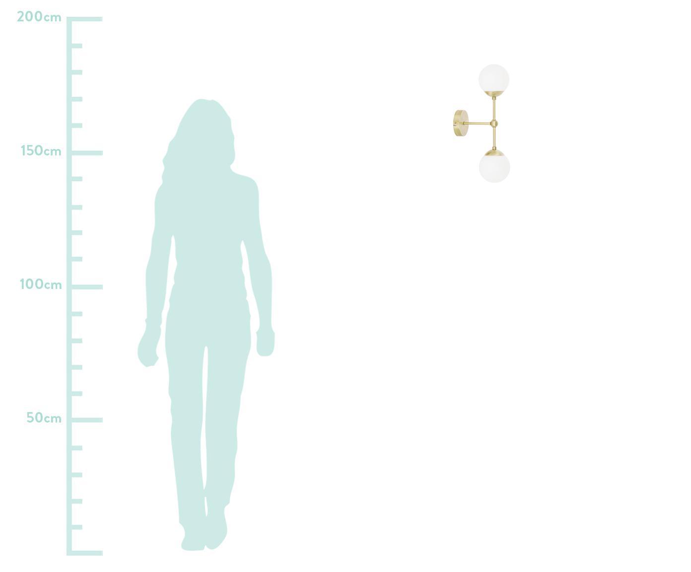 Kinkiet Beth, Biały, mosiądz, Ø 12 x W 45 cm