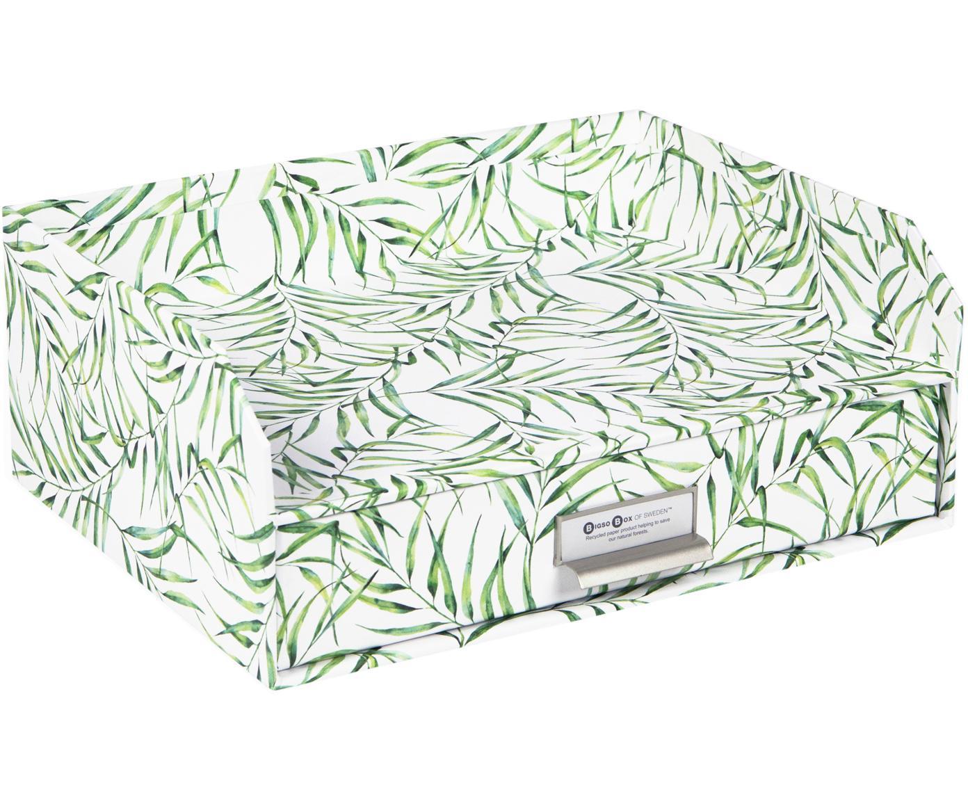 Organizer da ufficio Walter, Organizer: solido, cartone laminato, Bianco, verde, Larg. 33 x Alt. 13 cm