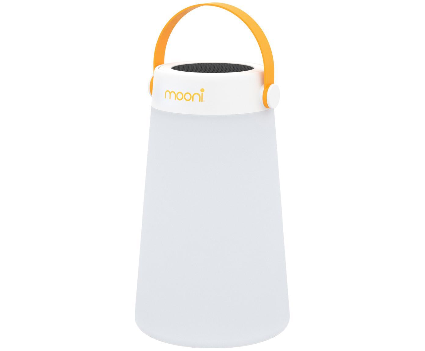 Mobile LED Außenleuchte mit Lautsprecher Take Me, Lampenschirm: Kunststoff (LDPE), Griff: Kunststoff (PC), Weiß, Orange, Ø 18 x H 30 cm