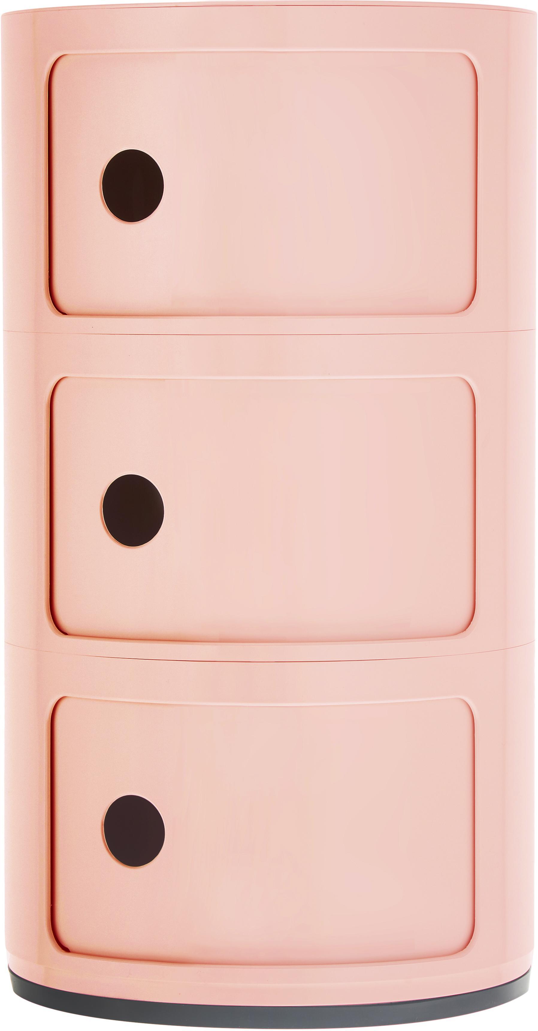 Design container Componibile, 100% biopolymeer van hernieuwbare grondstoffen, Roze, mat, Ø 32 x H 59 cm