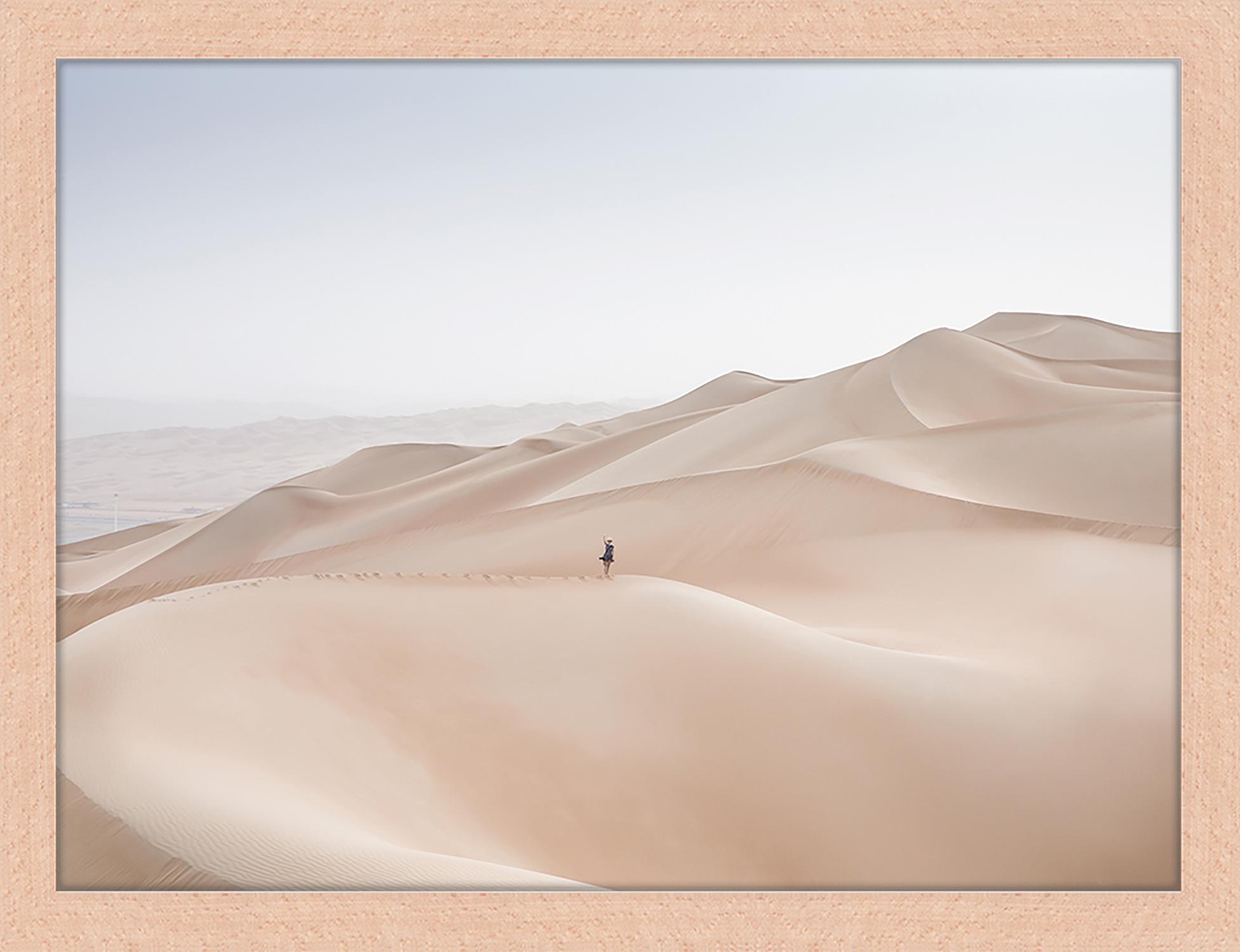 Gerahmter Digitaldruck Khali Desert, Bild: Digitaldruck auf Papier, , Rahmen: Holz, lackiert, Front: Plexiglas, Mehrfarbig, 43 x 33 cm