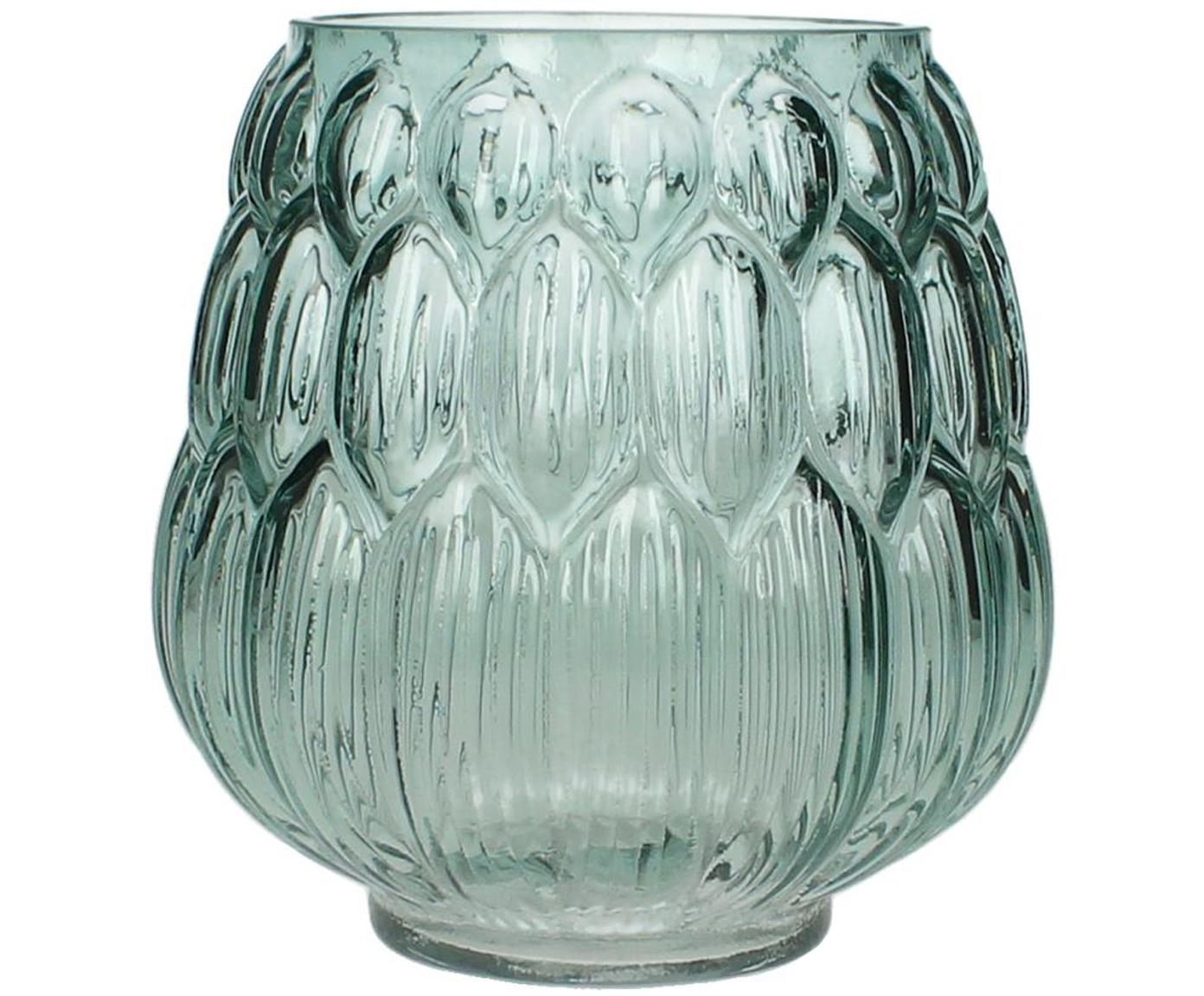 Jarrón de vidrio Berry, Vidrio, Azul petróleo, Ø 14 x Al 15 cm